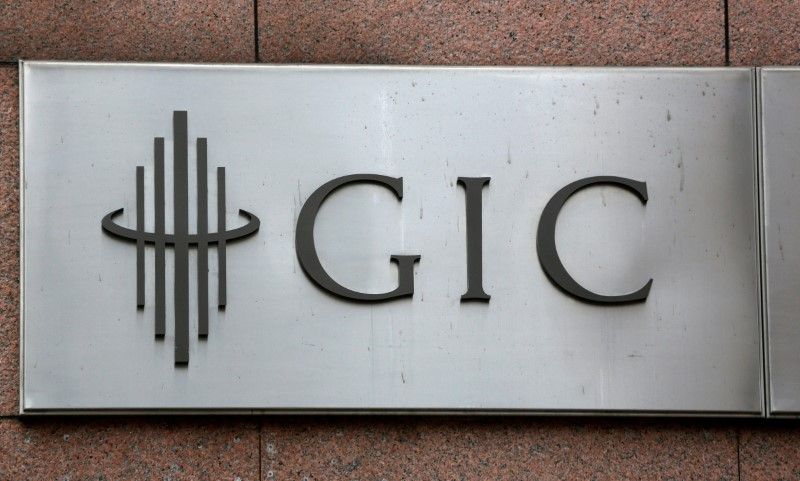 The logo for Singapore sovereign wealth fund GIC Pte Ltd, is seen on a building in Singapore July 6, 2017. REUTERS/Darren Whiteside