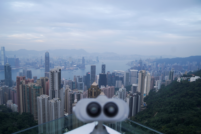 A telescope is seen at The Peak, as the coronavirus disease (COVID-19) outbreak continues, in Hong Kong, China November 10, 2020. Picture taken November 10, 2020. REUTERS/Lam Yik