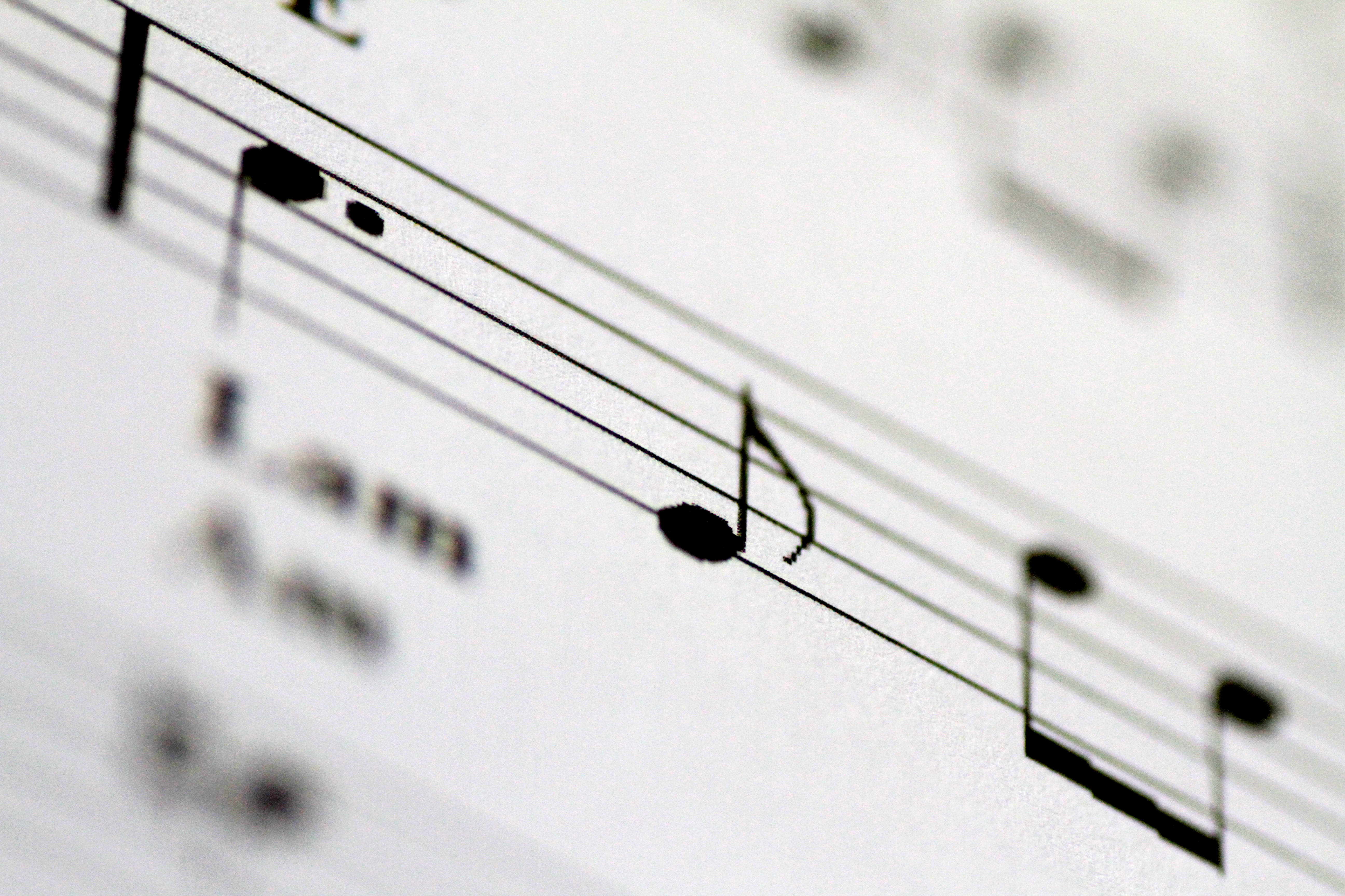 Musical notes are seen on on sheet music in this illustration photo April 4, 2018.