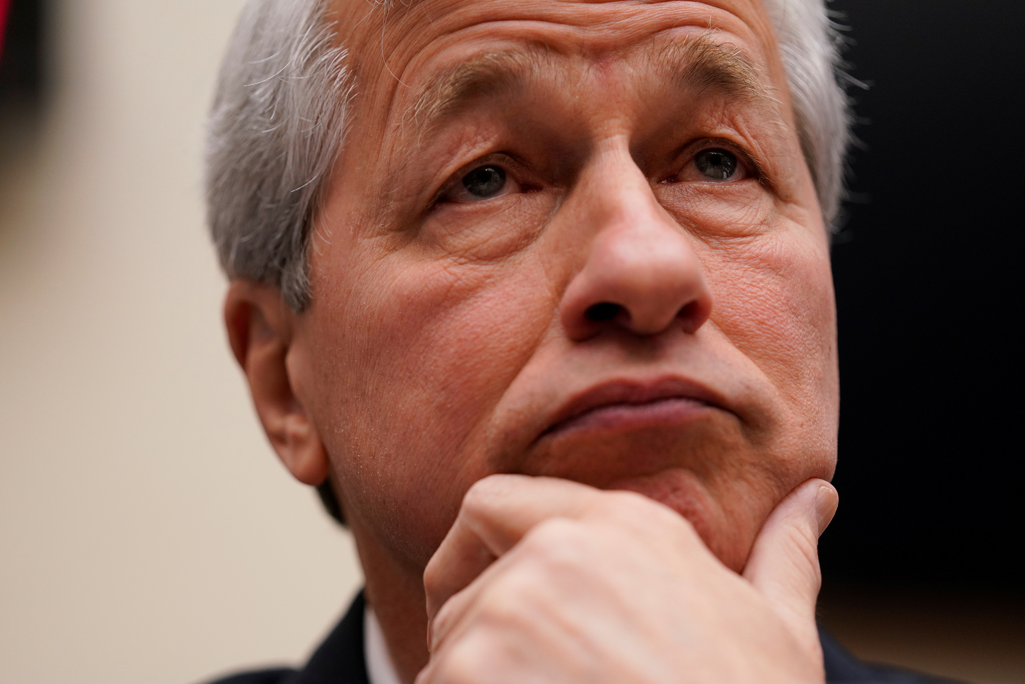 """Jamie Dimon, chairman & CEO of JP Morgan Chase & Co., arrives to testify before a House Financial Services Committee hearing on """"Holding Megabanks Accountable: A Review of Global Systemically Important Banks 10 Years After the Financial Crisis"""" on Capitol Hill in Washington, U.S., April 10, 2019. REUTERS/Aaron P. Bernstein"""