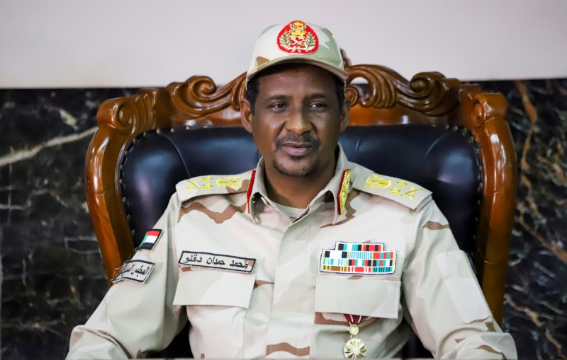 General Mohamed Hamdan Dagalo,attends the signing ceremony of the agreement on peace and ceasefire in Juba, South Sudan October 21, 2019. He is currently deputy head of Sudan's sovereign council. REUTERS/Samir Bol/File Photo