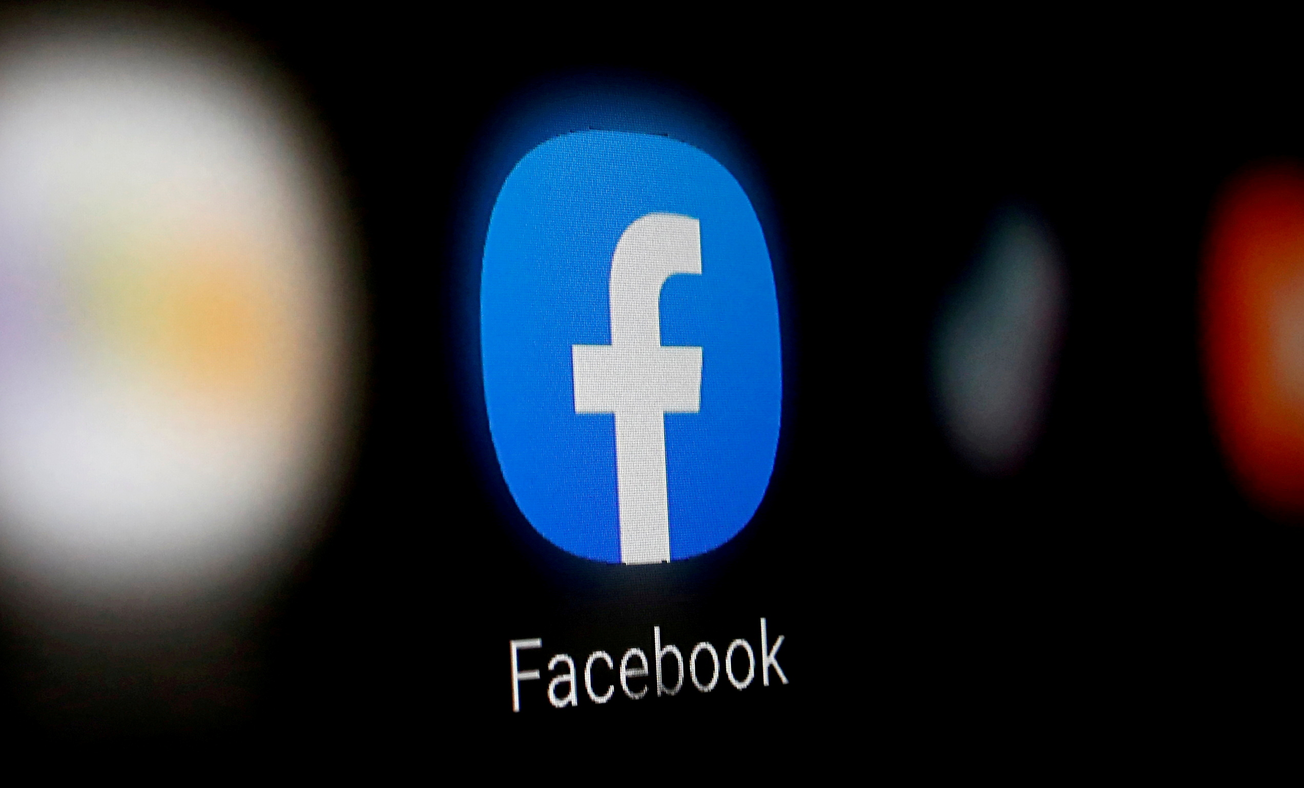 A Facebook logo is displayed on a smartphone in this illustration taken January 6, 2020. REUTERS/Dado Ruvic/File Photo