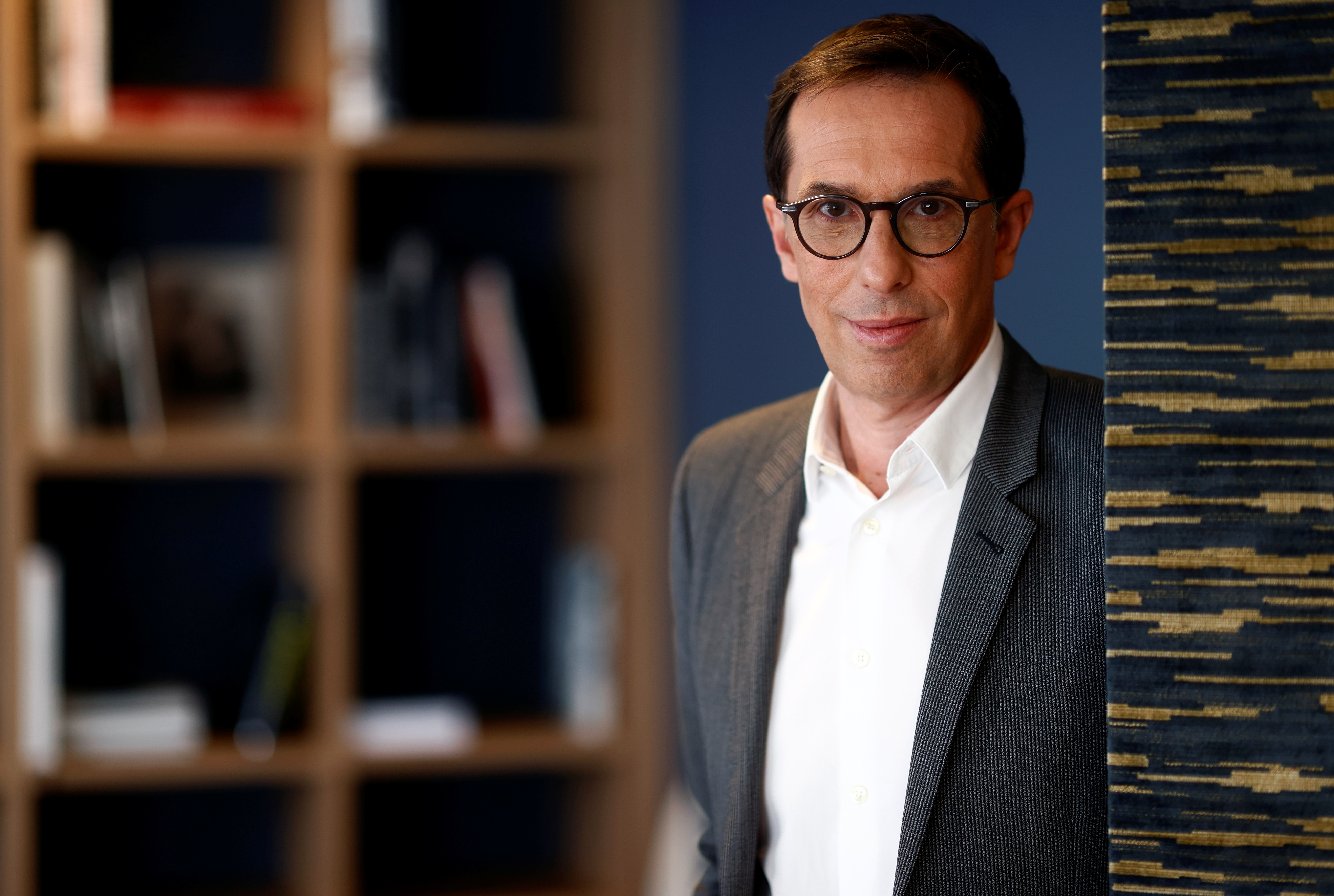 L'Oreal CEO Nicolas Hieronimus poses after an interview with Reuters at the company's offices in Levallois-Perret, near Paris, France, May 7, 2021. REUTERS/Christian Hartmann