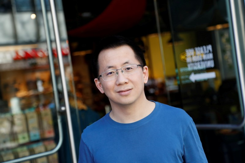 Zhang Yiming, founder and global CEO of ByteDance, poses in Palo Alto, California, U.S., March 4, 2020.   REUTERS/Shannon Stapleton/File Photo