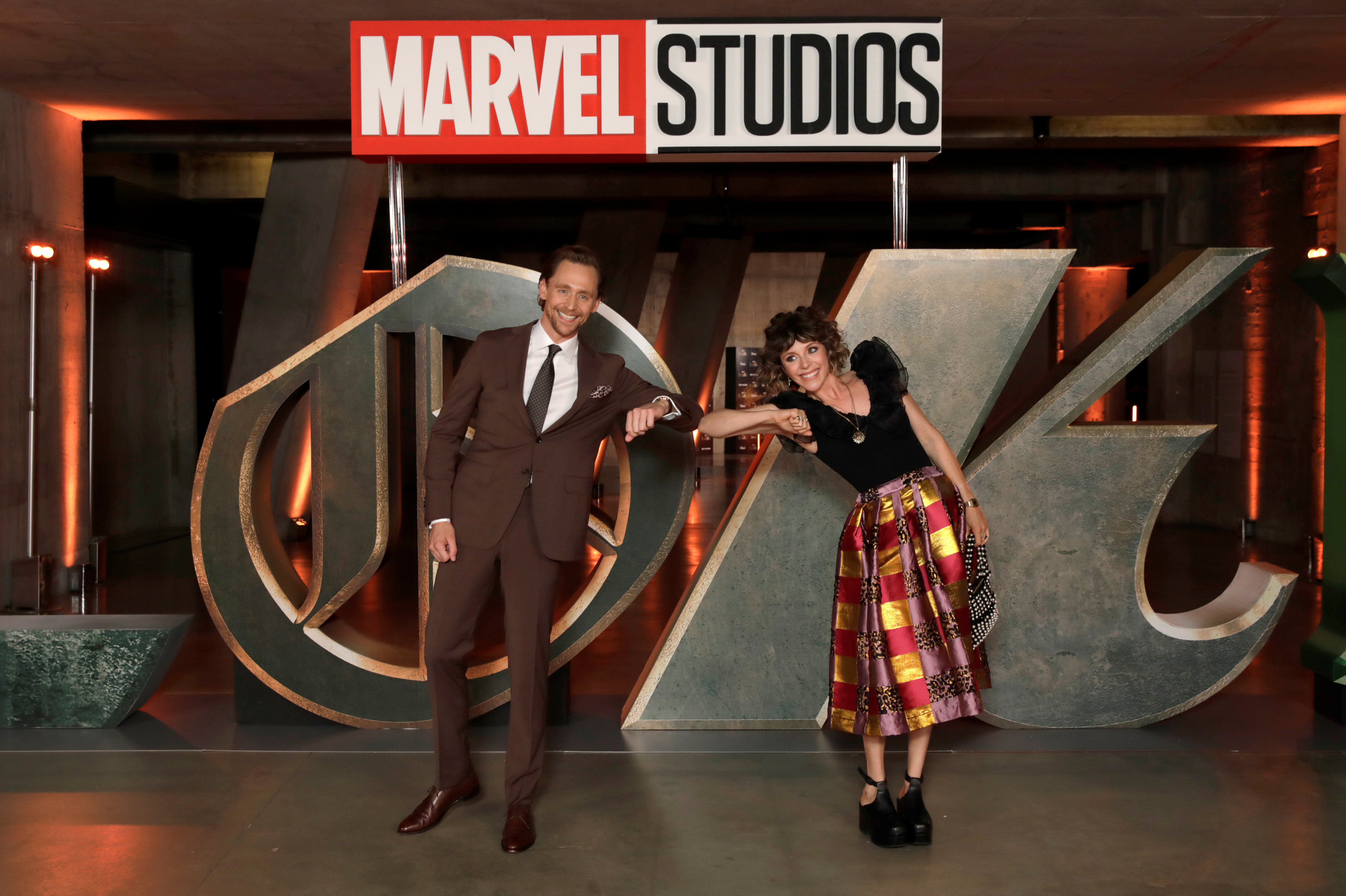 Tom Hiddleston and Sophia Di Martino attend the Special Screening of Marvel Studios' series