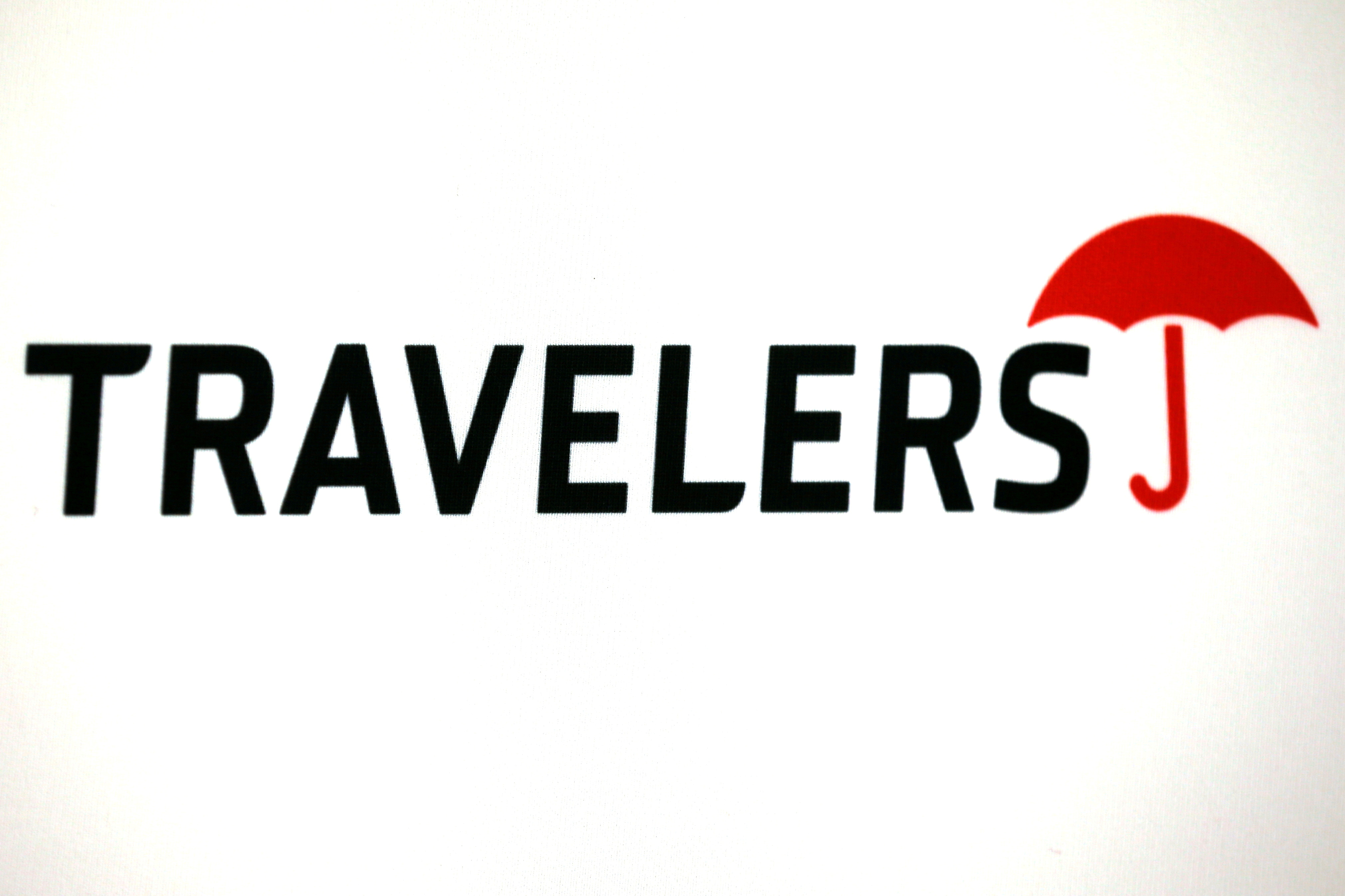 The logo of Travelers Companies is seen in Los Angeles, California, United States. REUTERS/Lucy Nicholson