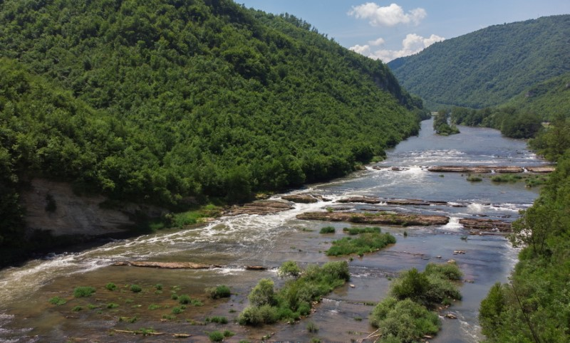 River Bosna is seen in village Lasva near Zenica, Bosnia and Herzegovina June 12, 2021.  REUTERS/Dado Ruvic