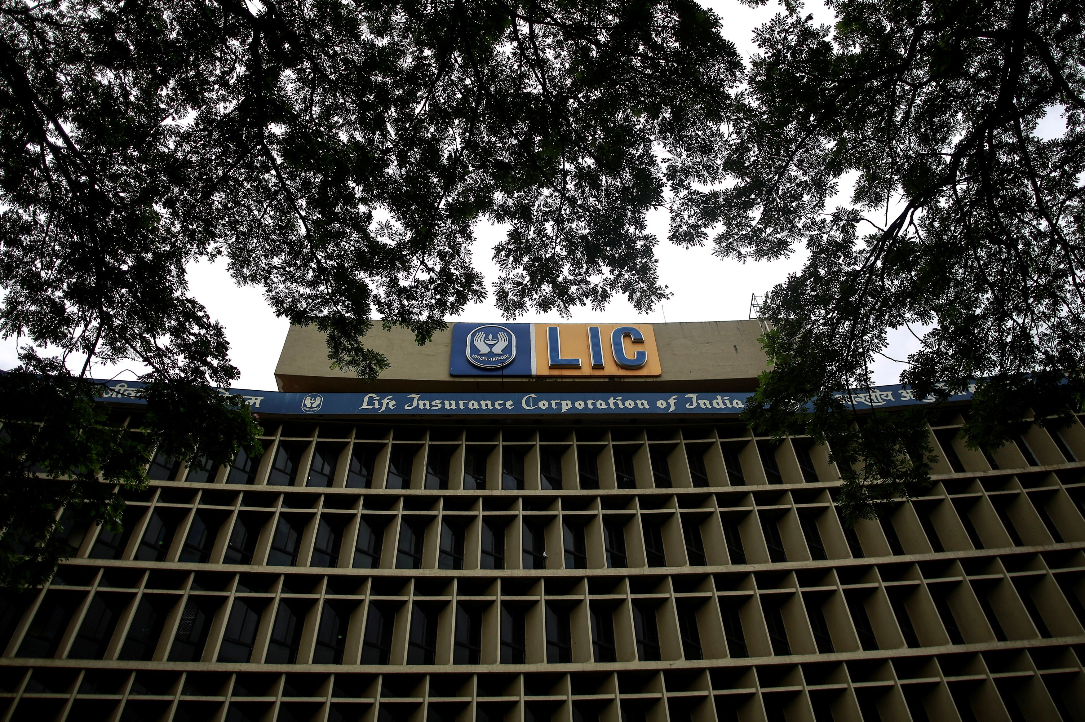 An exterior view of Life Insurance Corporation of India's (LIC) headquarters is seen in Mumbai September 18, 2014. REUTERS/Danish Siddiqui/File Photo