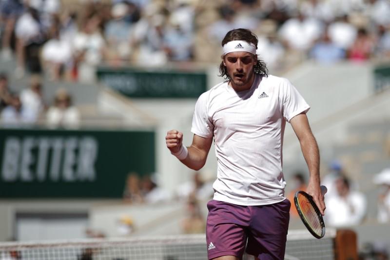 Tennis - French Open - Roland Garros, Paris, France - June 13, 2021 Greece's Stefanos Tsitsipas reacts during the final against Serbia's Novak Djokovic REUTERS/Benoit Tessier