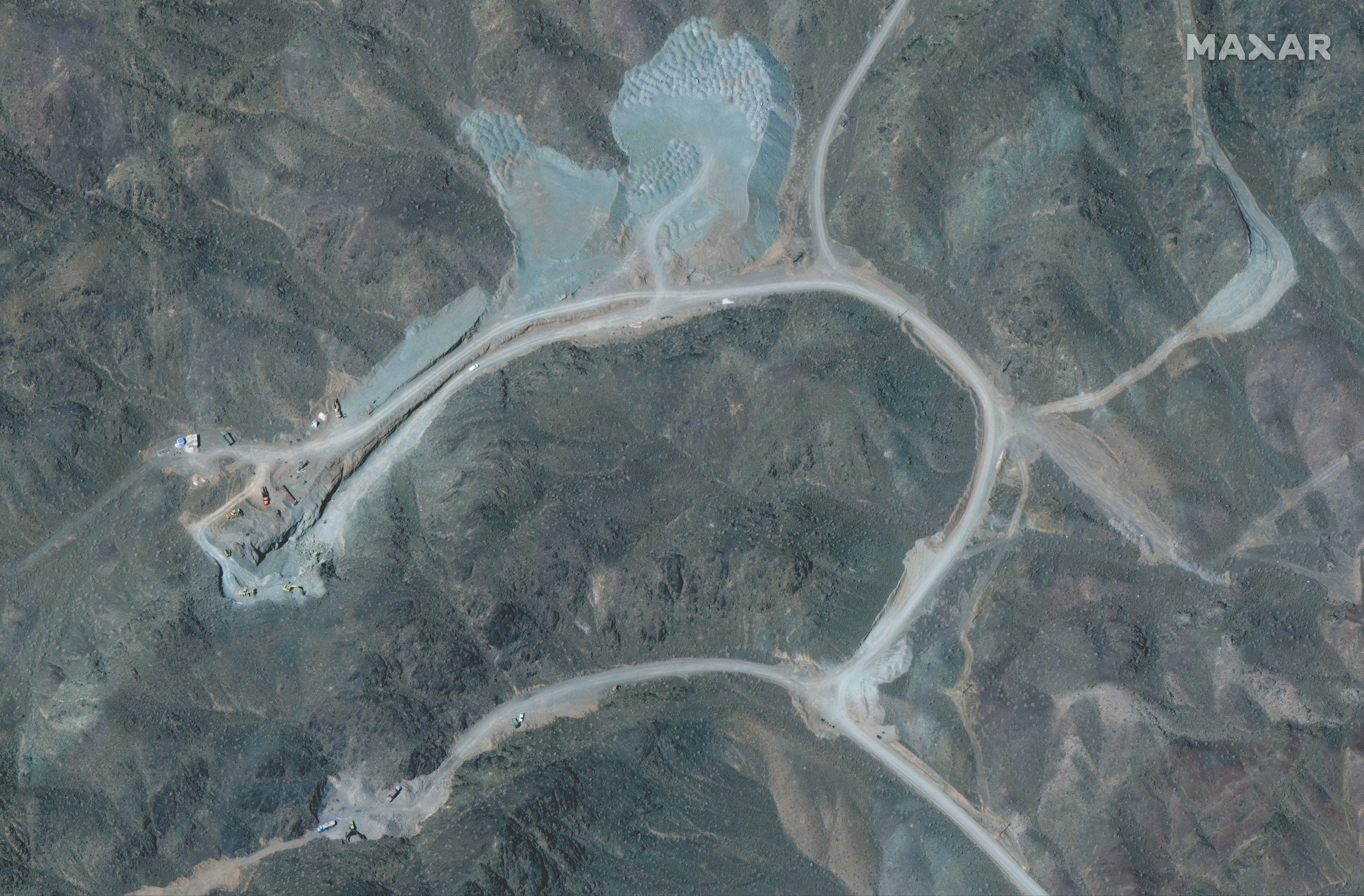A view of the Natanz uranium enrichment facility 250 km (155 miles) south of the Iranian capital Tehran, in this Maxar Technologies satellite image taken last week and obtained by Reuters on April 12, 2021. Satellite image ©2021 Maxar Technologies/Handout via REUTERS