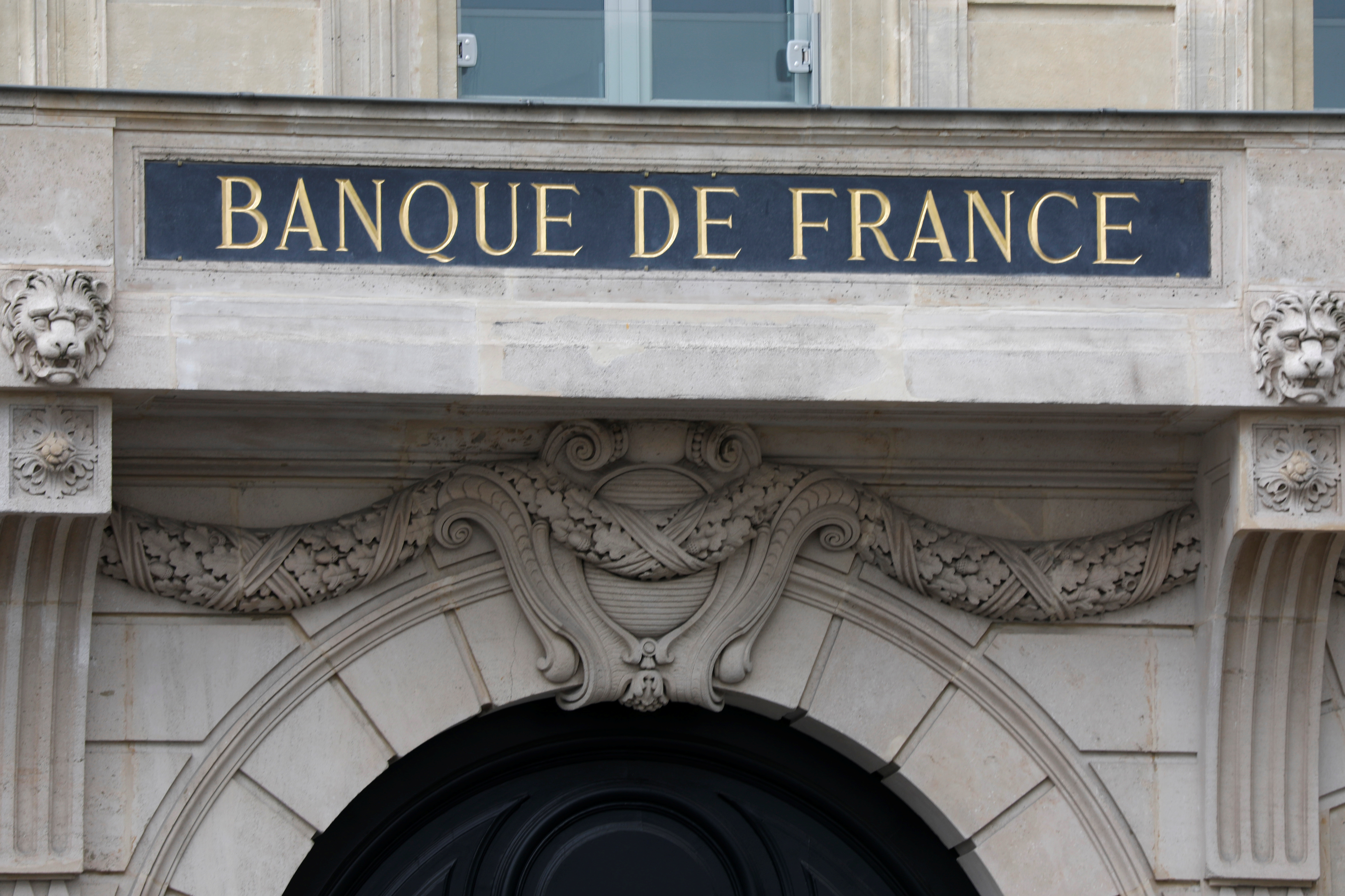 Facade of the Bank of France