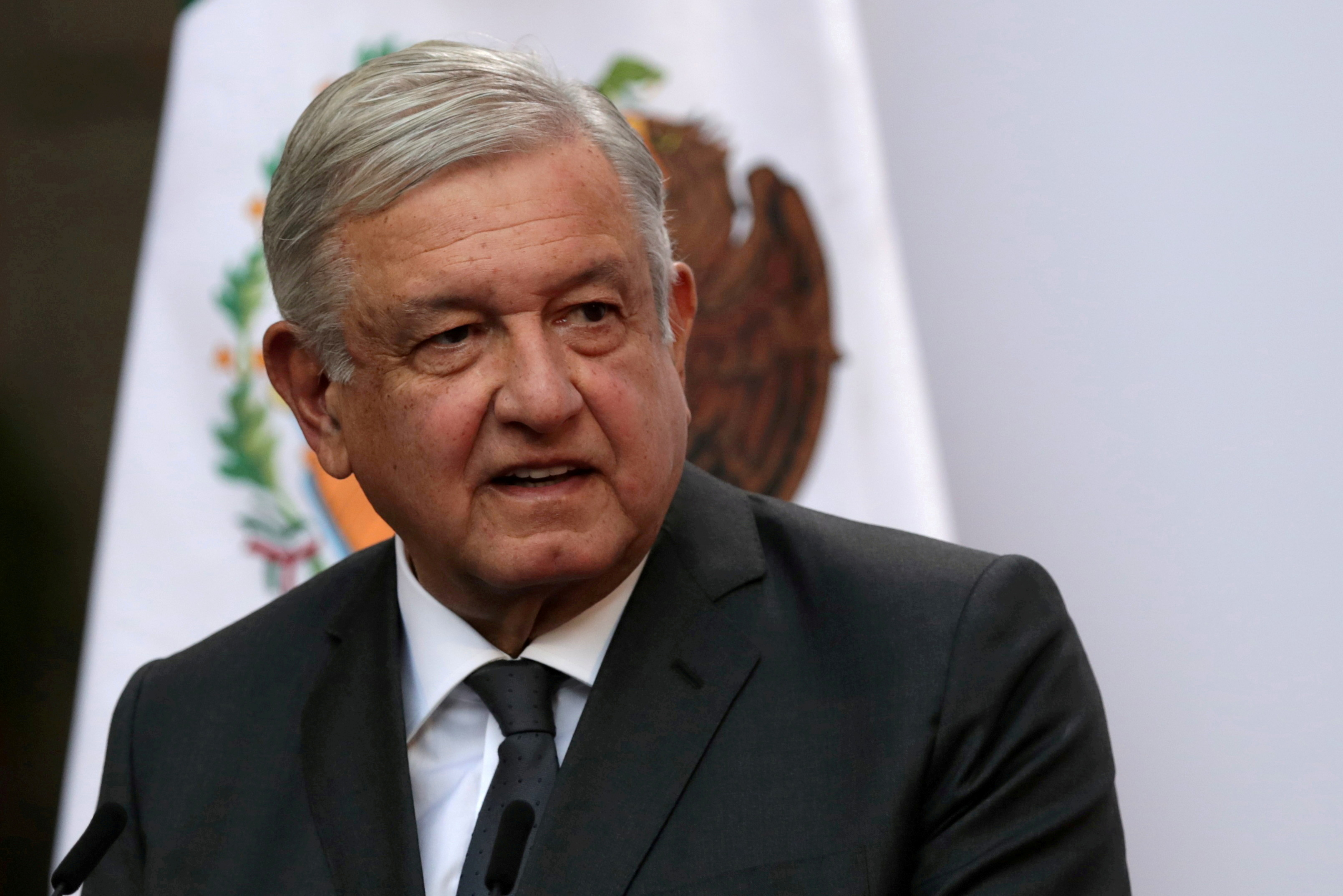 Mexico's President Andres Manuel Lopez Obrador addresses to the nation on his second anniversary as the President of Mexico, at the National Palace in Mexico City, Mexico, December 1, 2020.  REUTERS/Henry Romero/File Photo