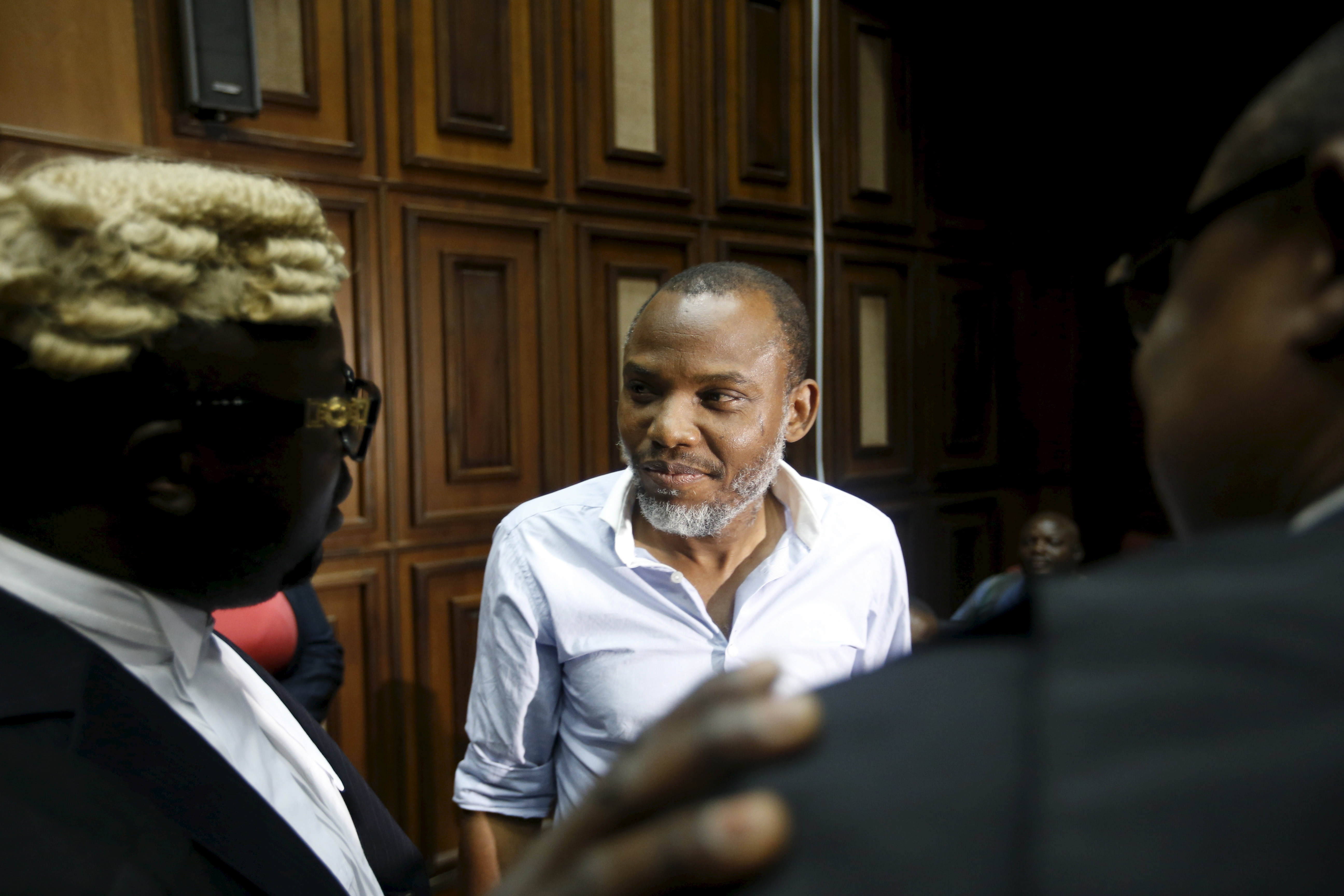 Indigenous People of Biafra (IPOB) leader Nnamdi Kanu is seen at the Federal high court Abuja, Nigeria January 20, 2016. REUTERS/Afolabi Sotunde