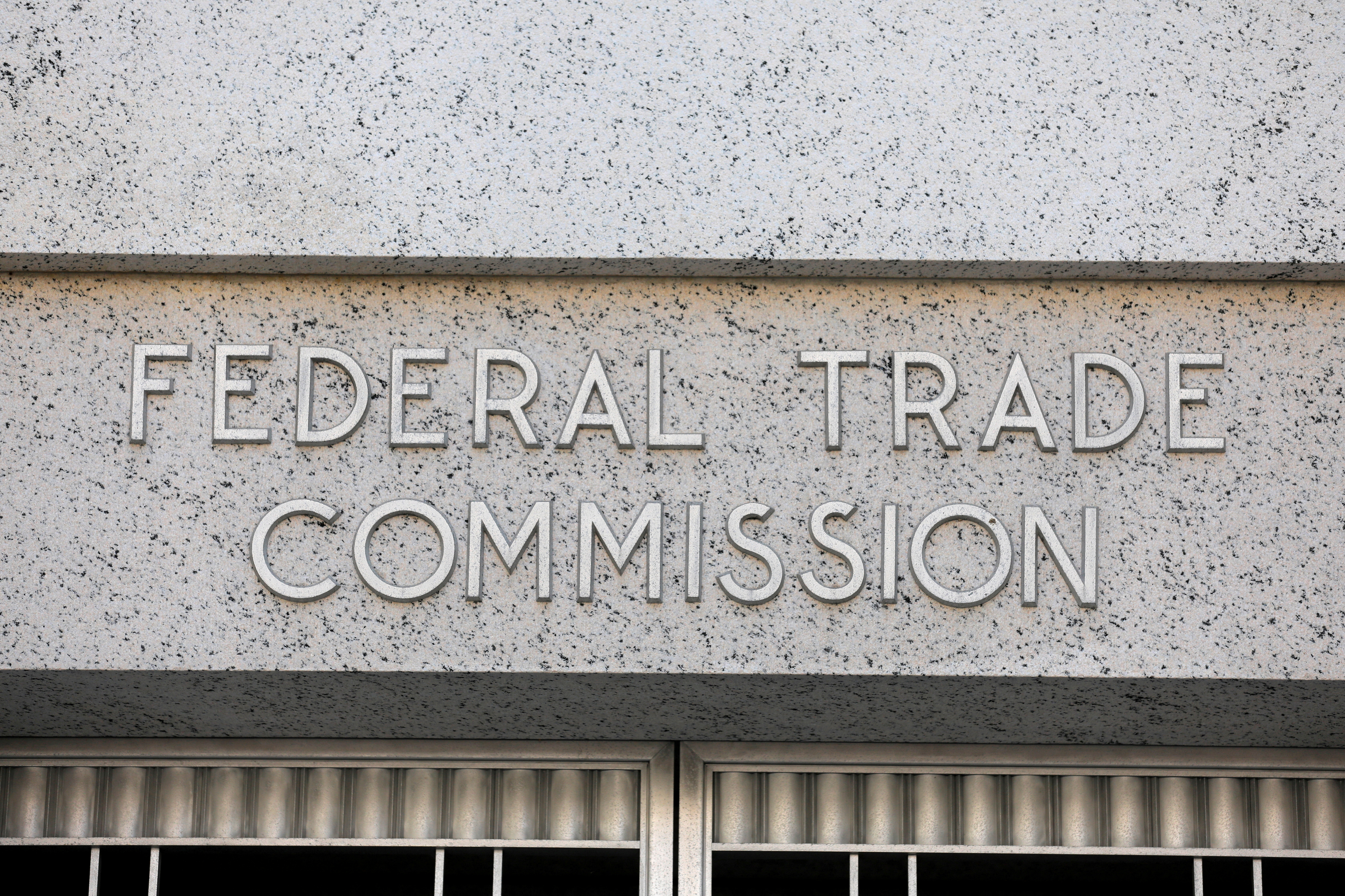Signage is seen at the Federal Trade Commission headquarters in Washington, D.C., U.S., August 29, 2020. REUTERS/Andrew Kelly/File Photo