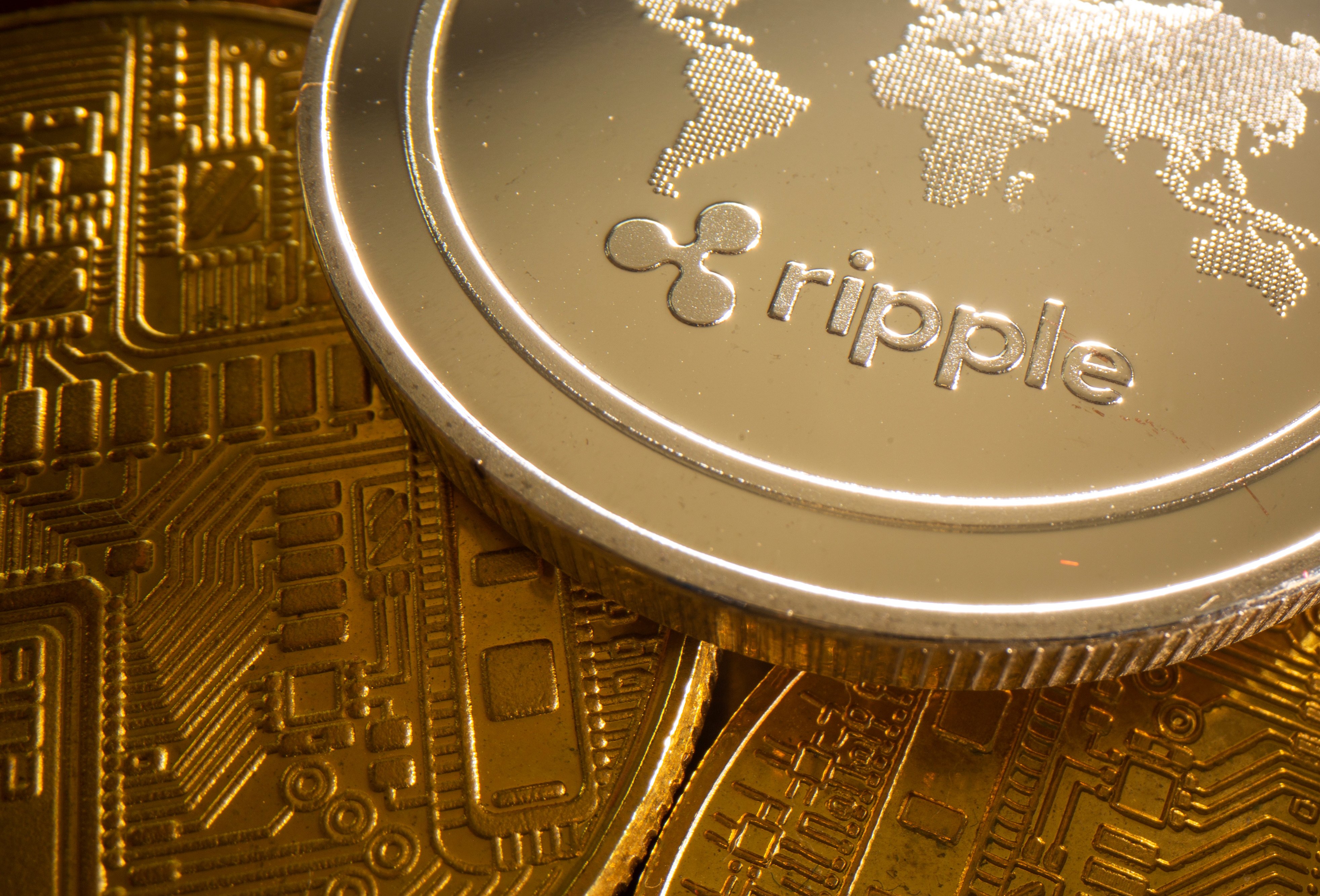 A representation of cryptocurrency Ripple is seen in this illustration taken August 6, 2021. REUTERS/Dado Ruvic/Illustration