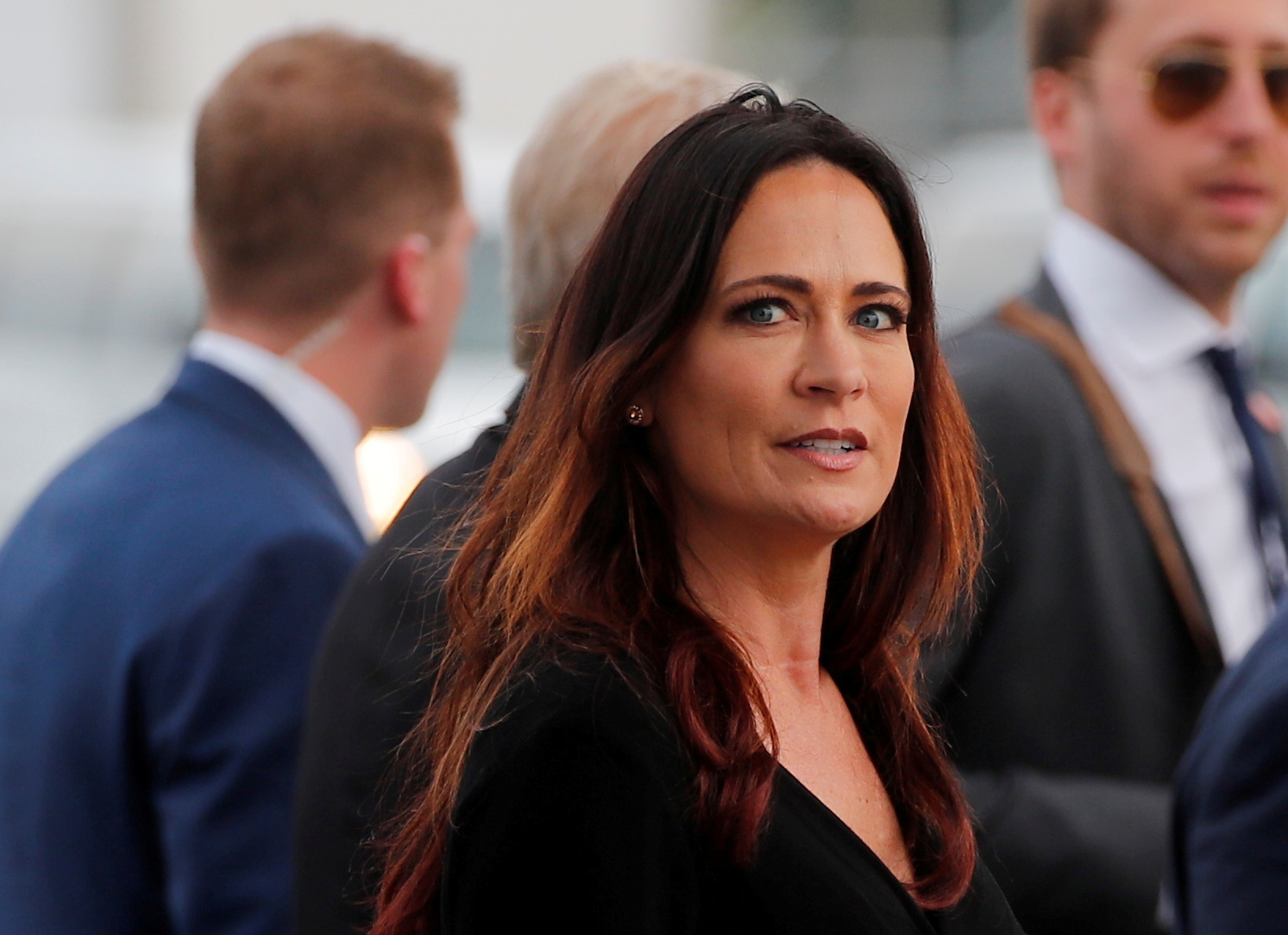 Stephanie Grisham, spokesperson for first lady Melania Trump, arrives for a campaign rally with U.S. President Donald Trump in Orlando, Florida, U.S., June 18, 2019. Picture taken June 18, 2019. REUTERS/Carlos Barria