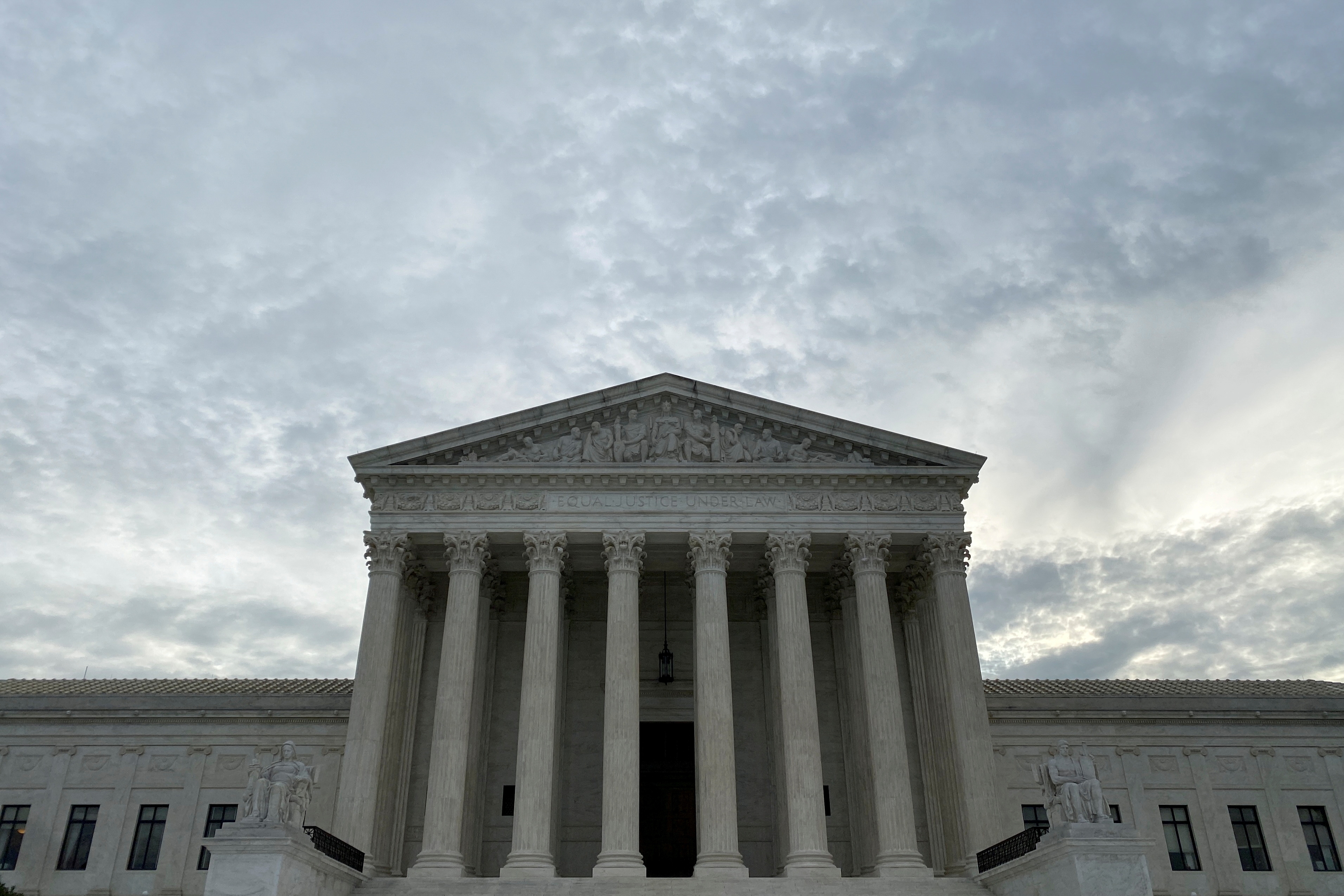 A general view of the Supreme Court building at the start of the court's new term in Washington, U.S. October 4, 2021. REUTERS/Jonathan Ernst