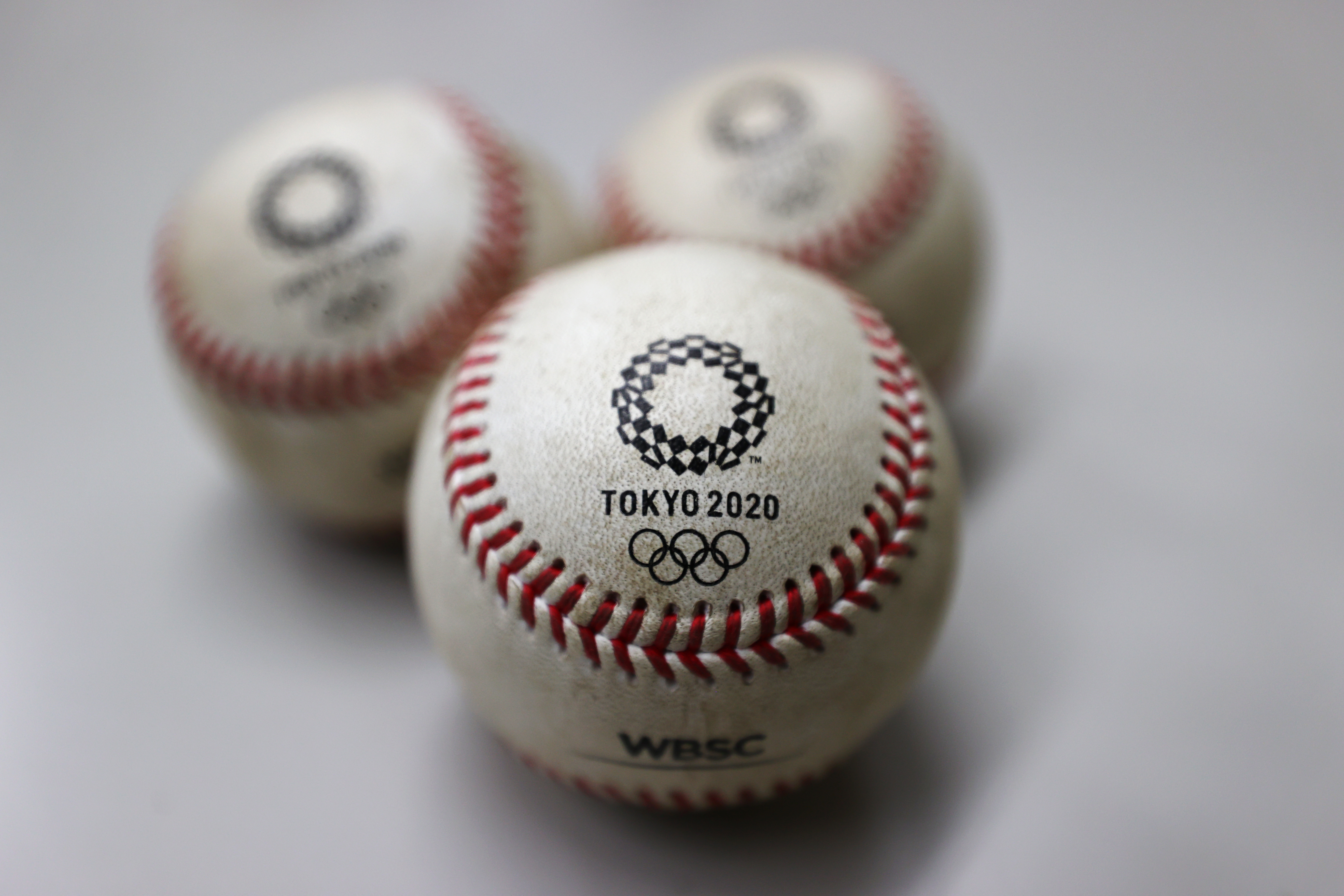 Baseballs are seen after being rubbed with mud by umpiring officials prior to a game during the Tokyo 2020 Olympics at the Yokohama Baseball Stadium in Yokohama, Japan July 30, 2021. REUTERS/Jorge Silva