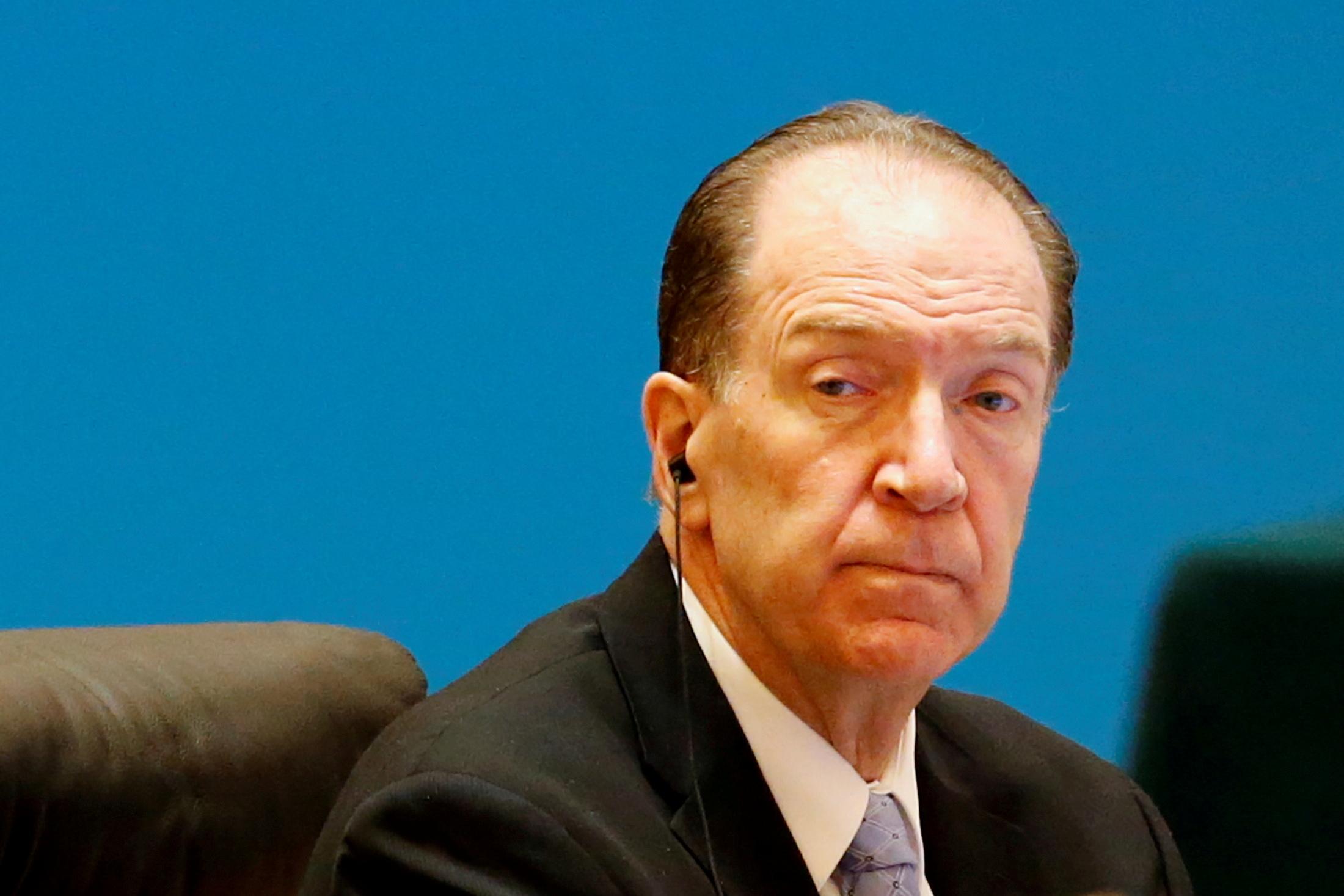 World Bank President David Malpass attends the