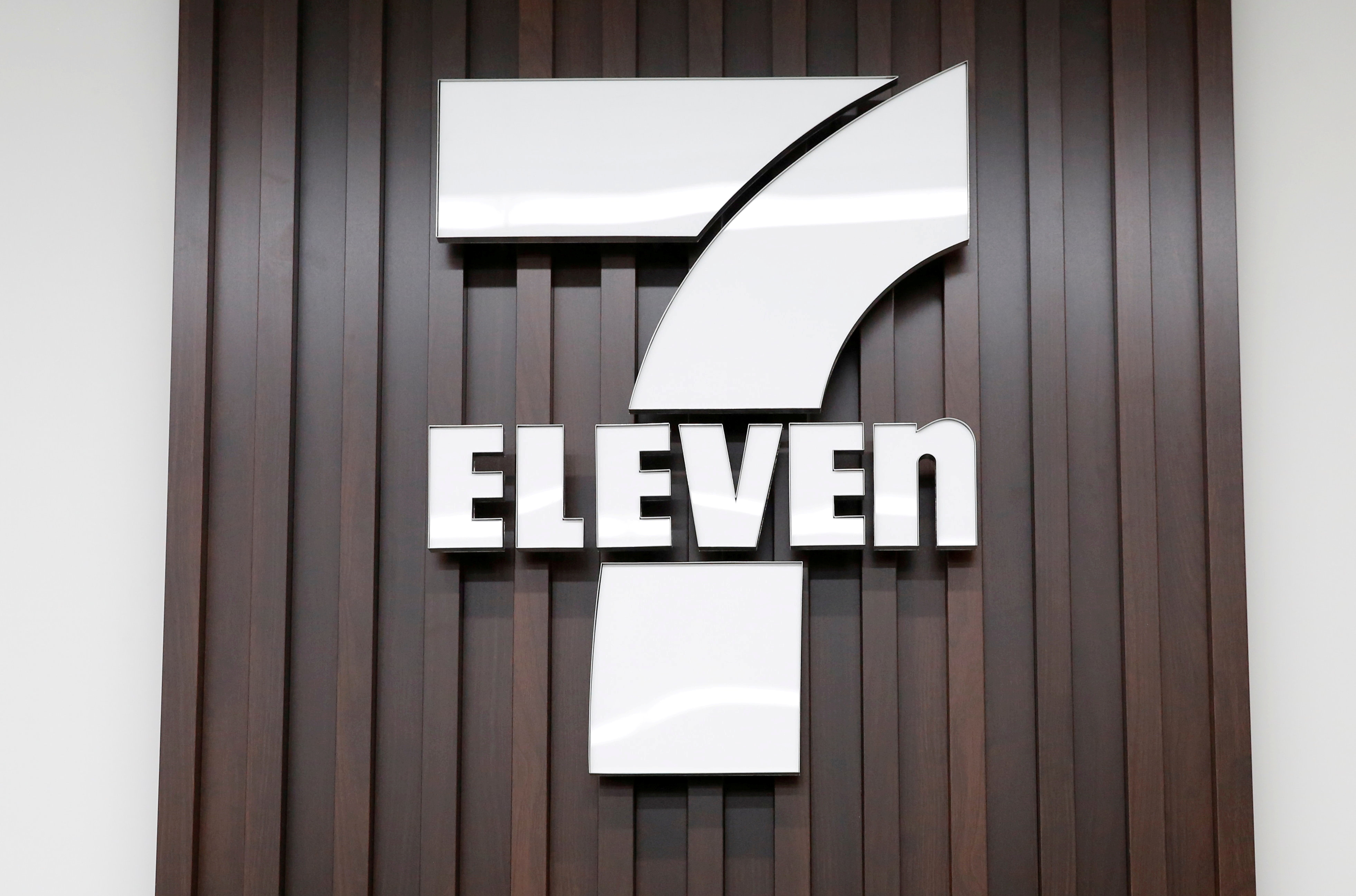 The logo of 7-Eleven is seen at a 7-Eleven convenience store in Tokyo, Japan December 6, 2017. REUTERS/Toru Hanai/File Photo/File Photo