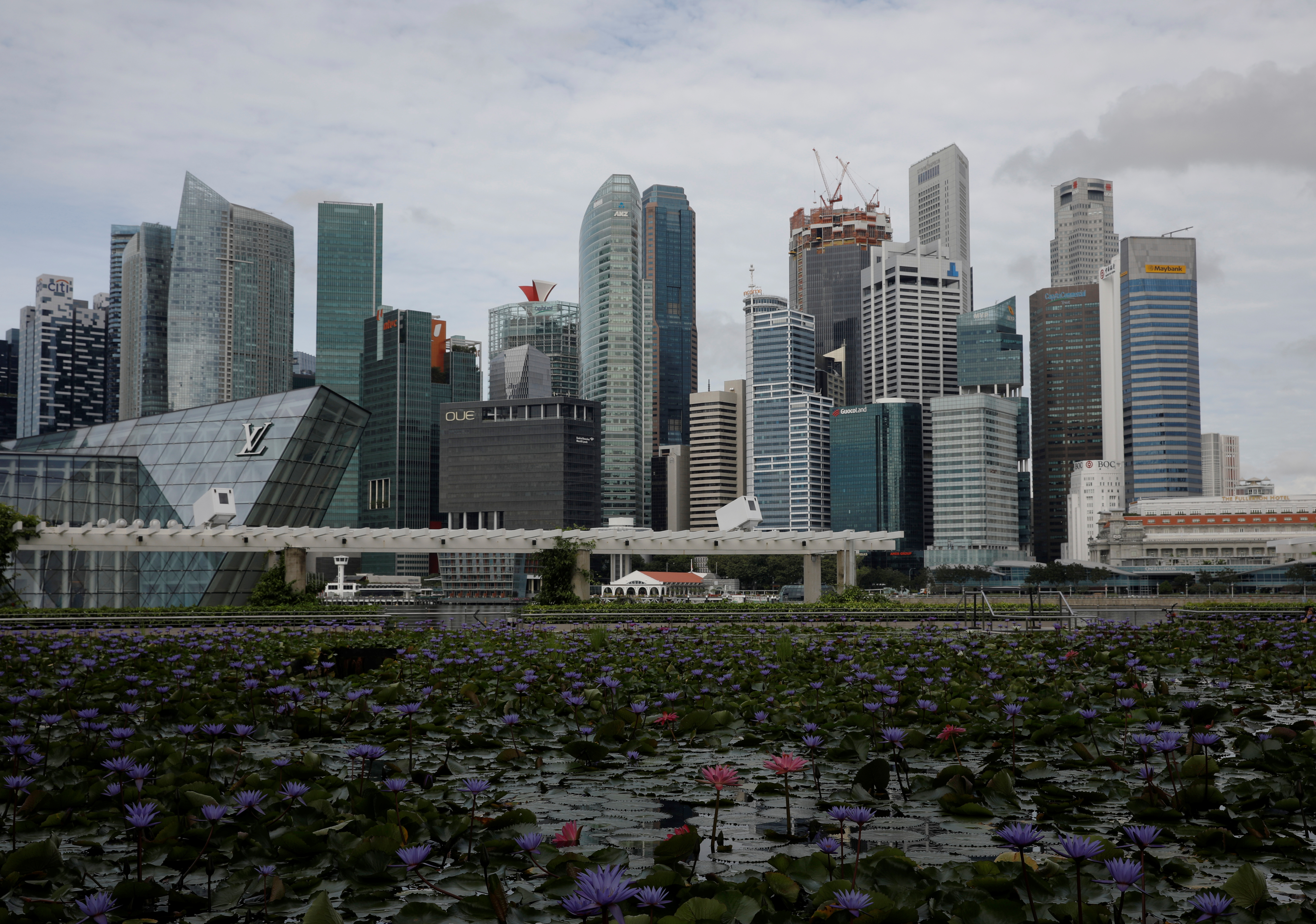 View of the central business district skyline in Singapore March 26, 2021. REUTERS/Edgar Su