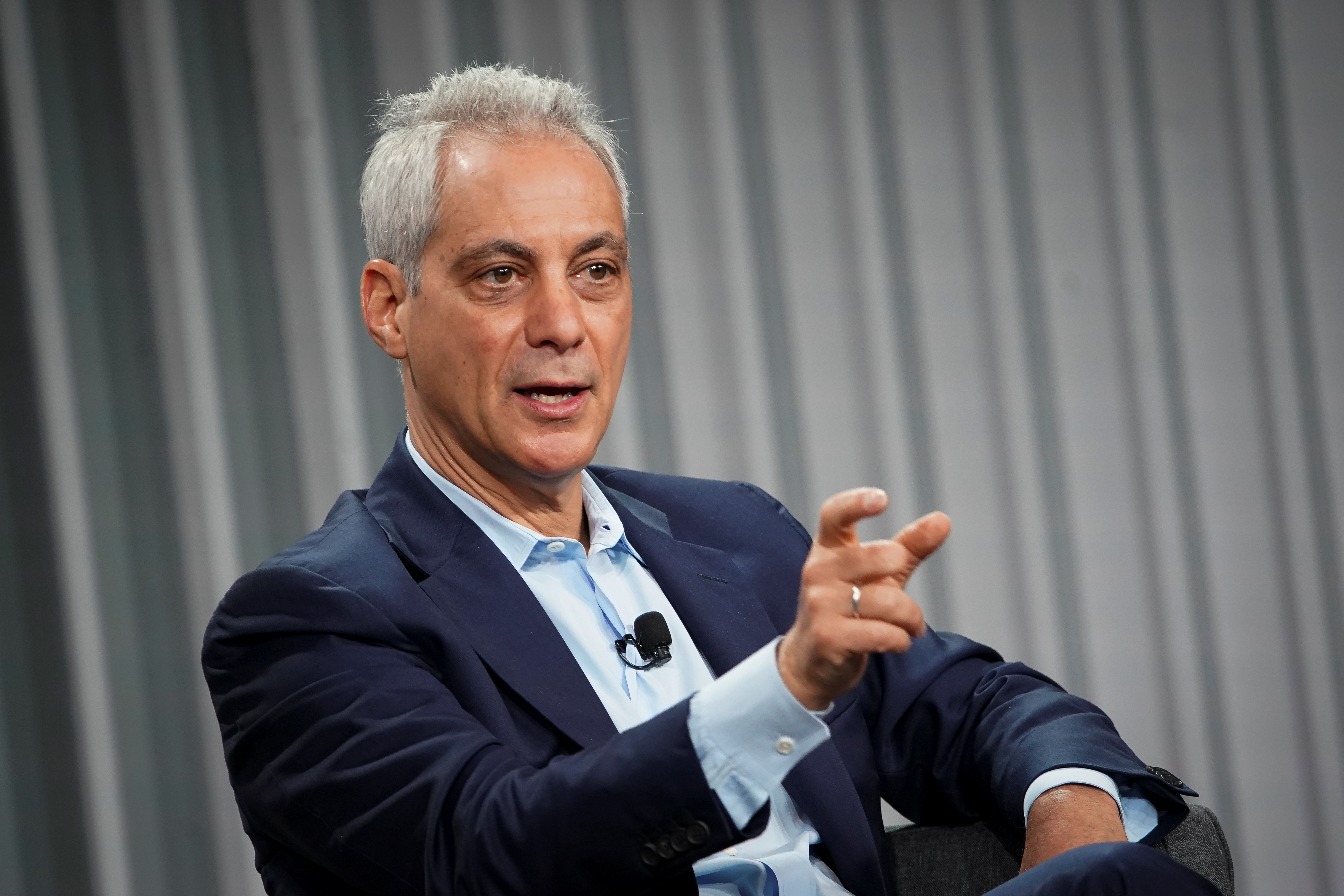 Rahm Emanuel, former mayor of Chicago, speaks during the Wall Street Journal CEO Council, in Washington, U.S., December 10, 2019. REUTERS/Al Drago