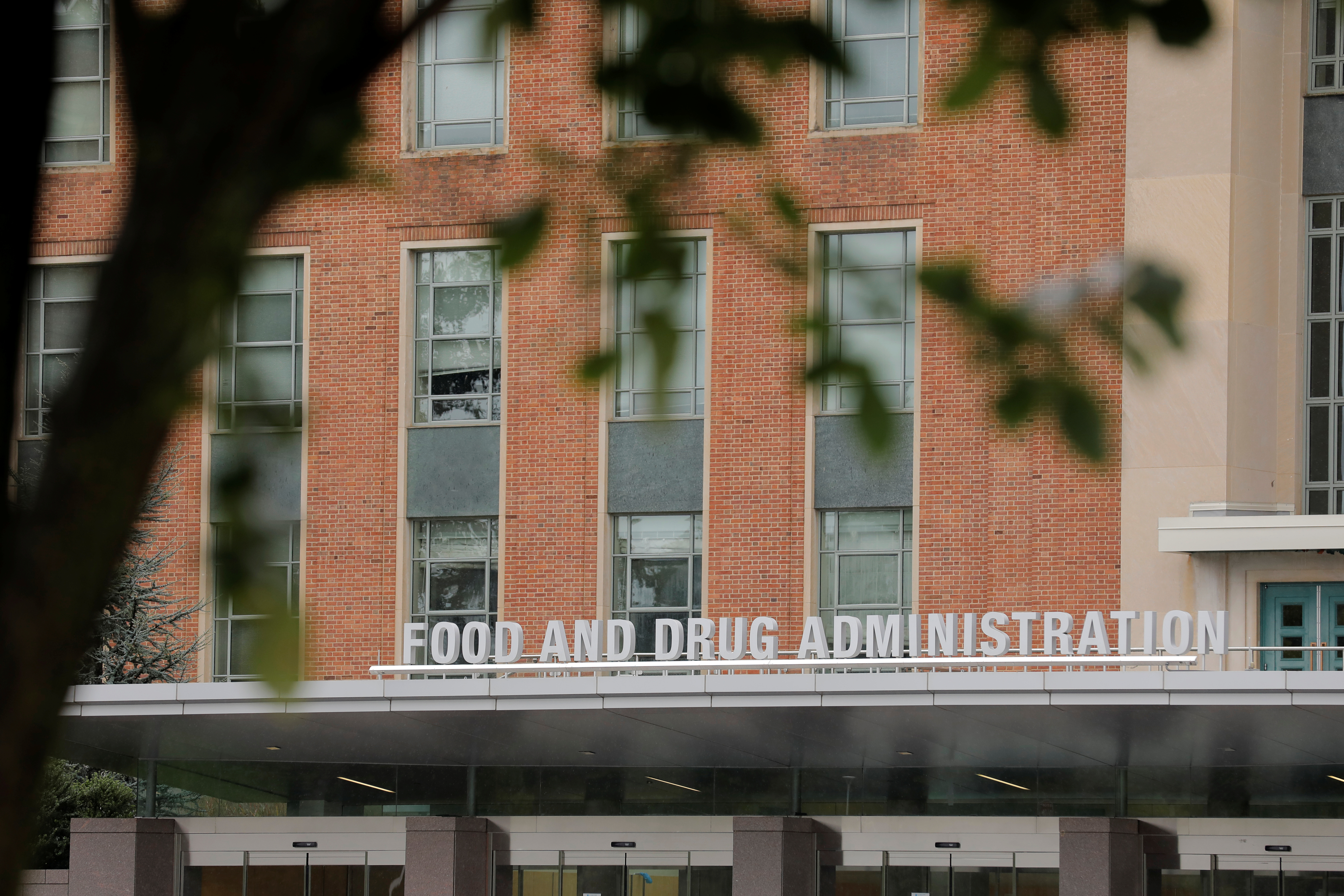 Signage is seen outside of the Food and Drug Administration (FDA) headquarters in White Oak, Maryland, U.S., August 29, 2020. REUTERS/Andrew Kelly