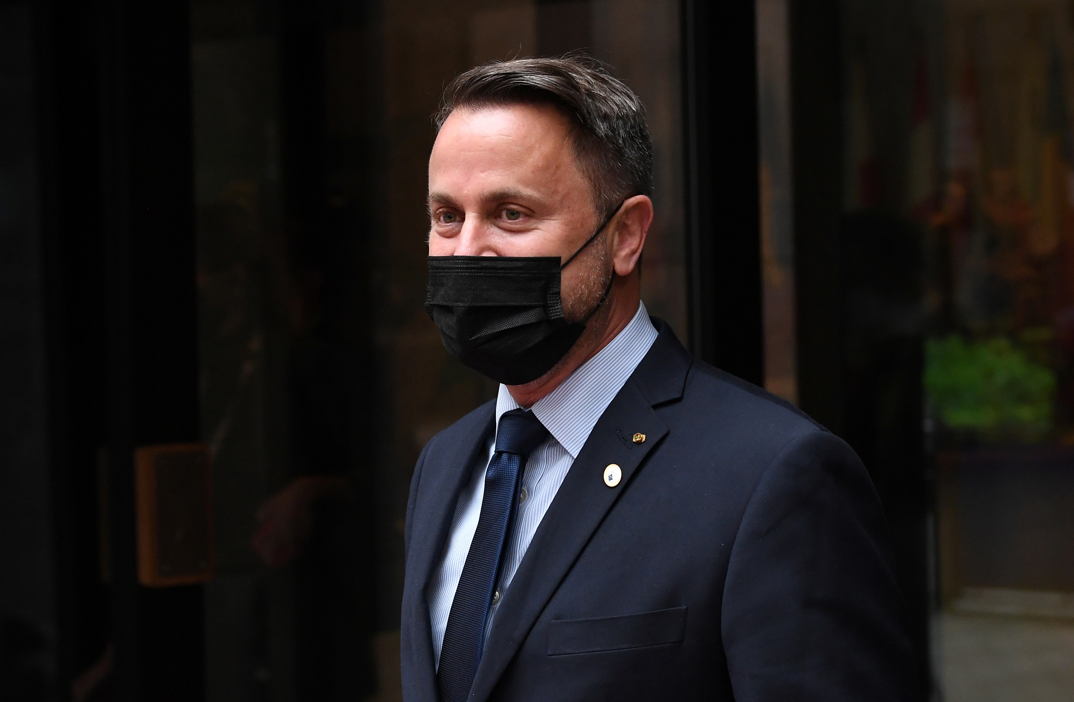 Luxembourg's Prime Minister Xavier Bettel departs after attending the second day of a EU summit at the European Council building in Brussels, Belgium June 25, 2021. John Thys/Pool via REUTERS