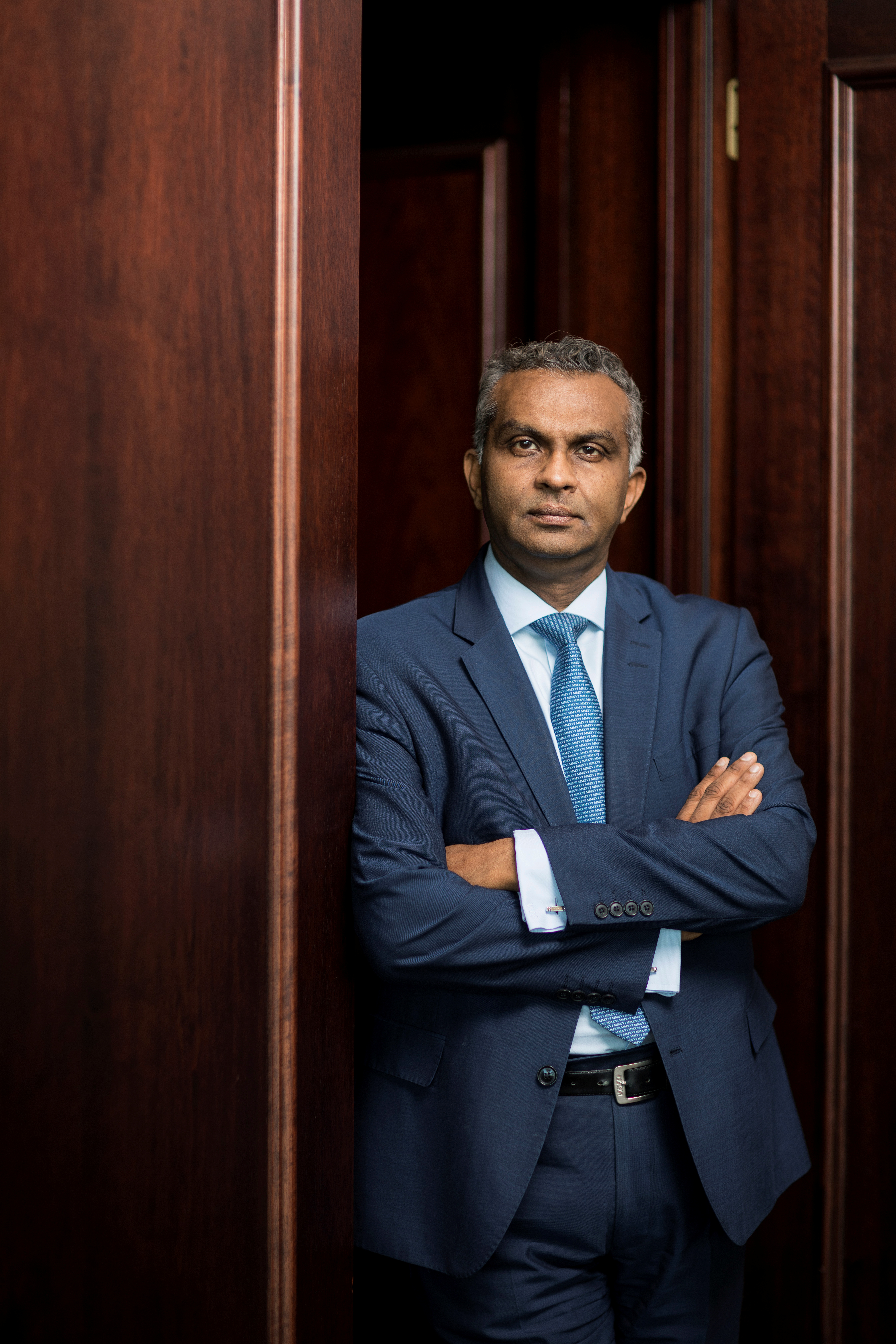 Viswas Raghavan, Chief Executive Officer for J.P. Morgan in Europe, Middle East and Africa, poses at the companies offices in this undated photo taken in London, Britain. JPMorgan/Handout via Reuters