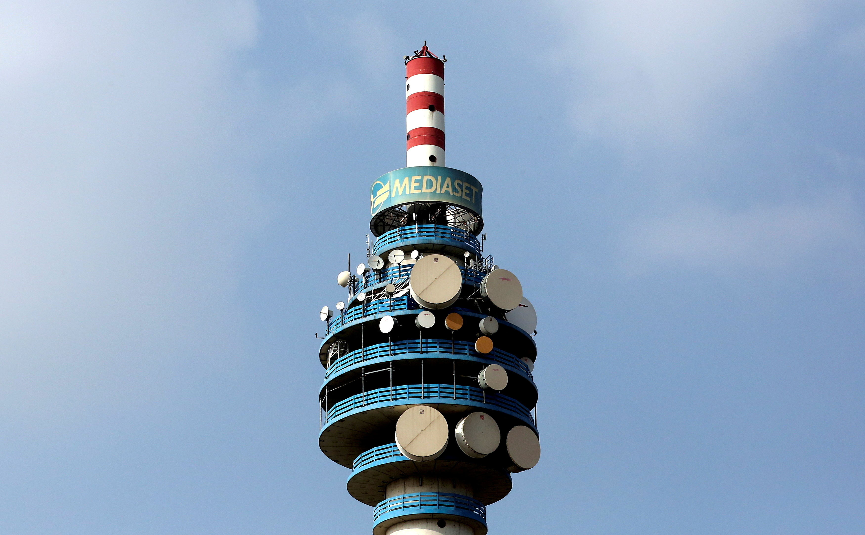 The Mediaset tower is seen in Cologno Monzese neighbourhood Milan, Italy, April 7, 2016. REUTERS/Stefano Rellandini/File Photo