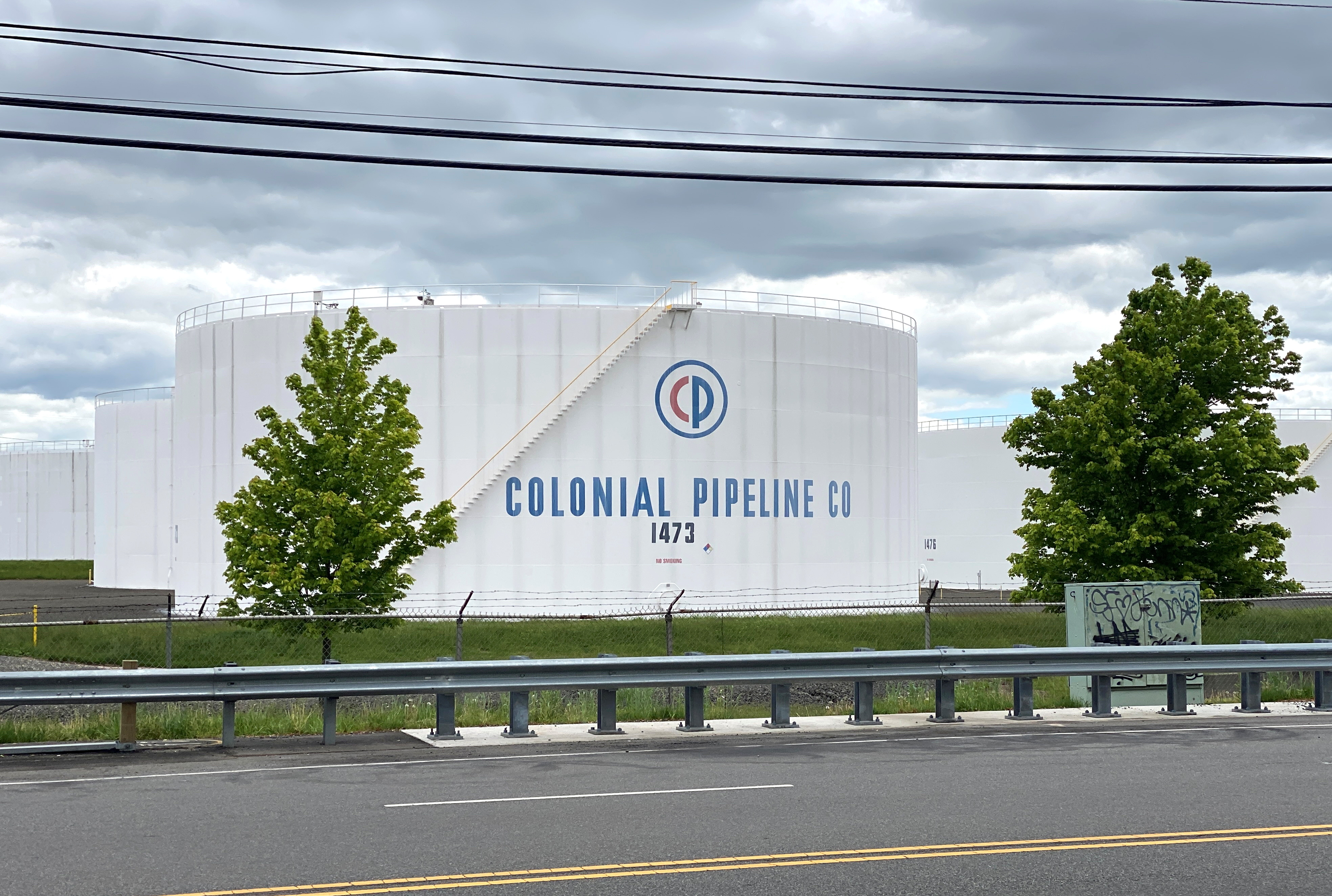 Holding tanks are pictured at Colonial Pipeline's Linden Junction Tank Farm in Woodbridge, New Jersey, U.S., May 10, 2021. REUTERS/Hussein Waaile