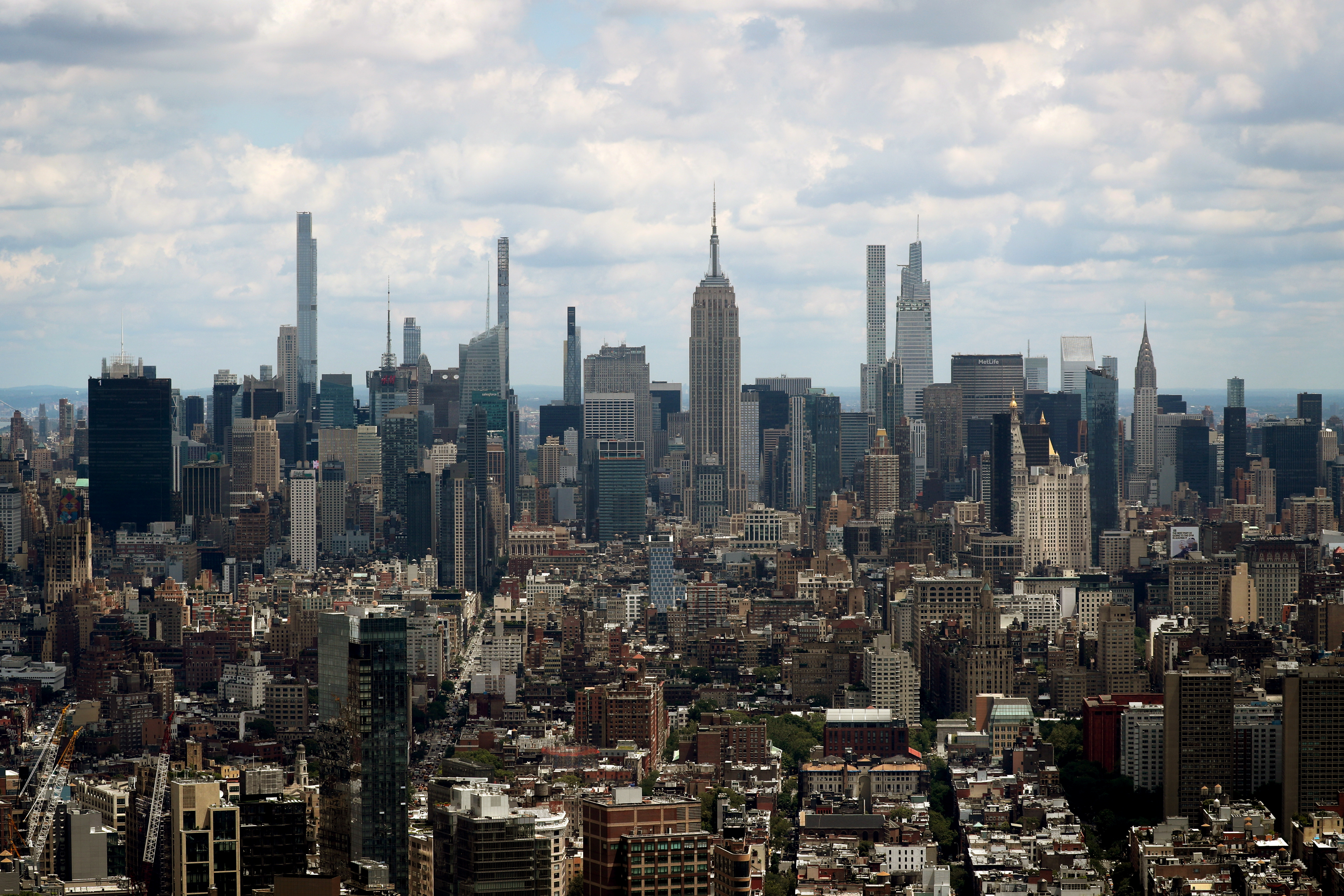 A general view of the skyline of Manhattan as seen from the One World Trade Center Tower in New York City, New York, U.S., June 15, 2021. REUTERS/Mike Segar