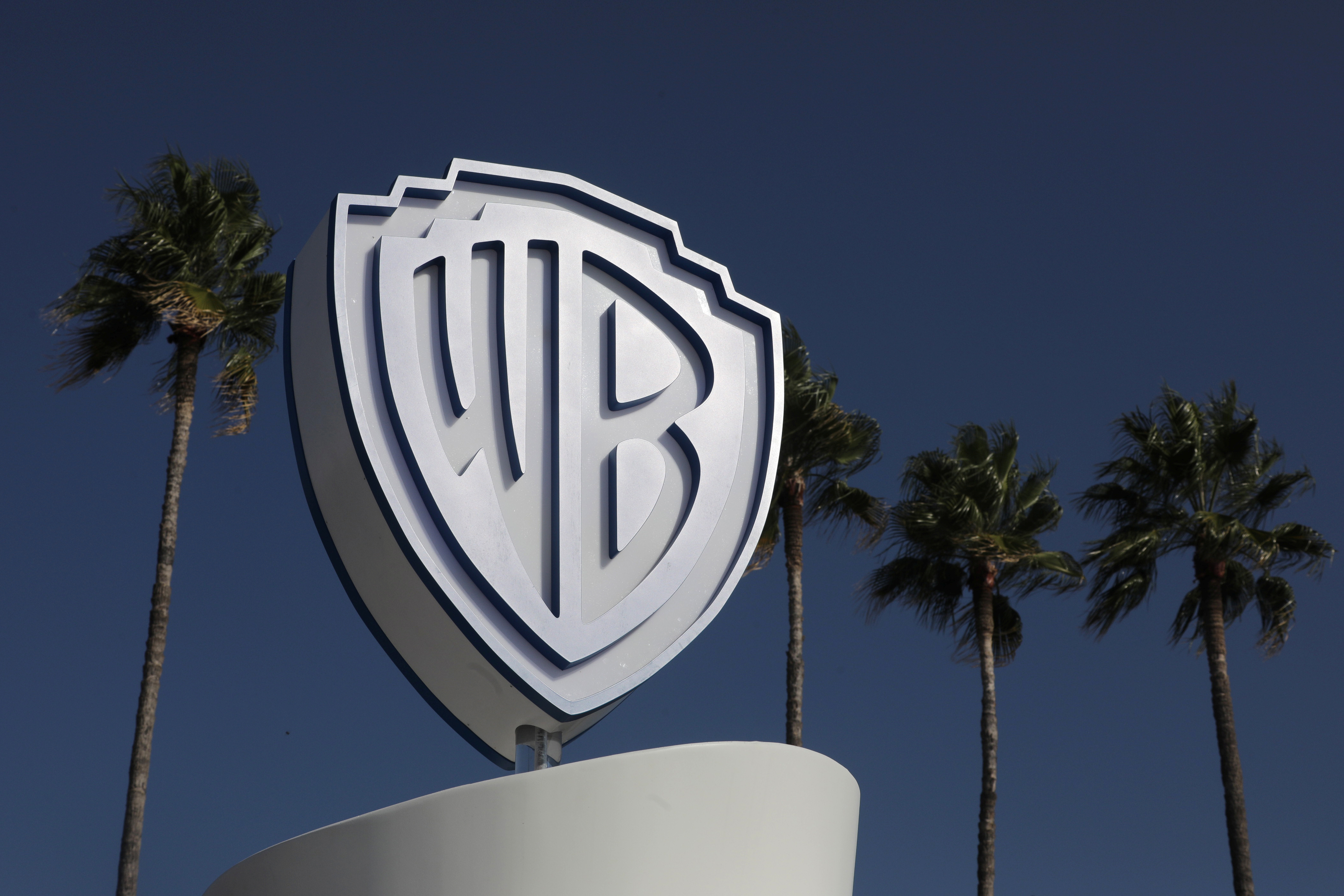 The Warner Bros logo is seen during the annual MIPCOM television programme market in Cannes, France, October 14, 2019. REUTERS/Eric Gaillard