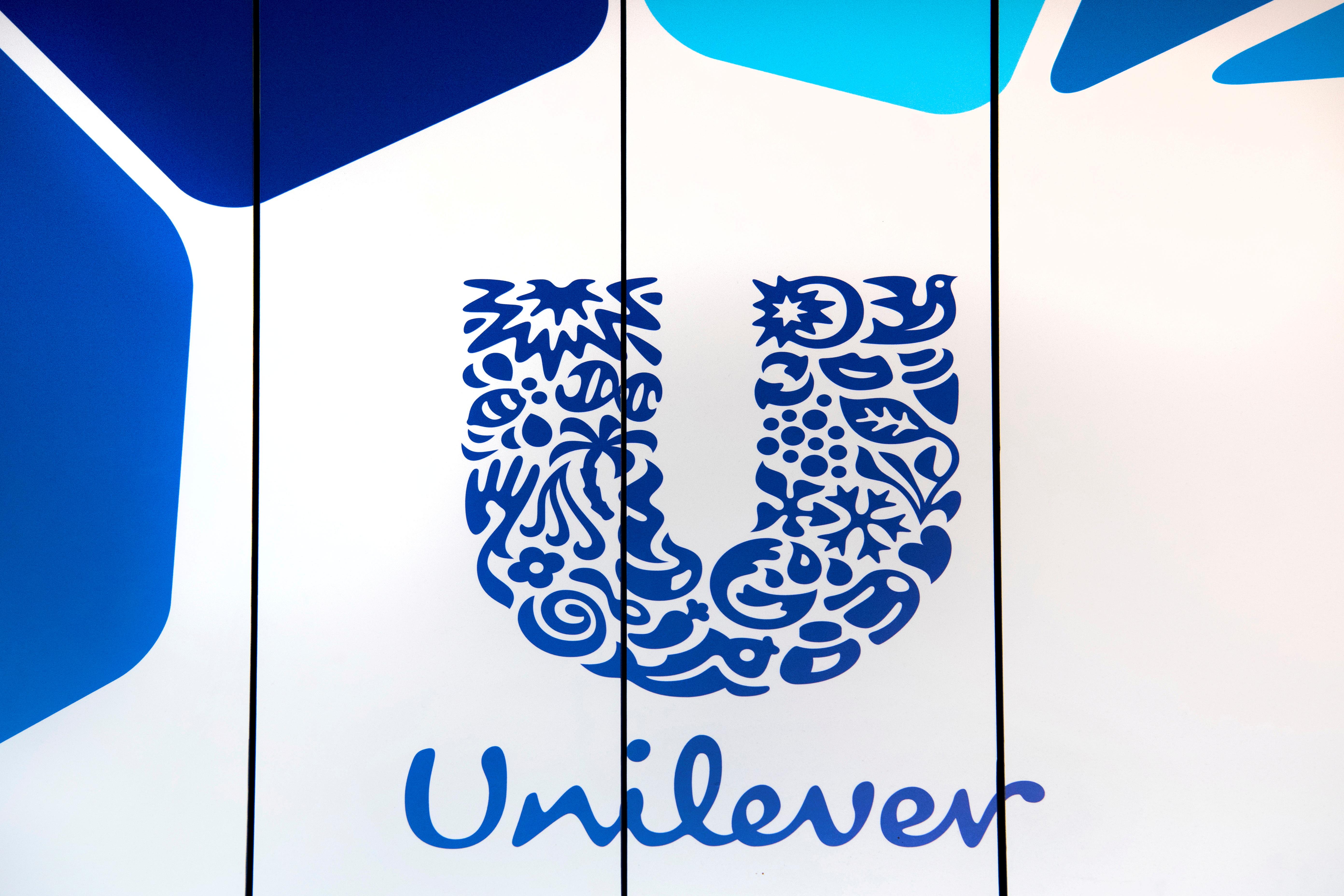 The logo of Unilever is seen at the headquarters in Rotterdam, Netherlands August 21, 2018. REUTERS/Piroschka van de Wouw