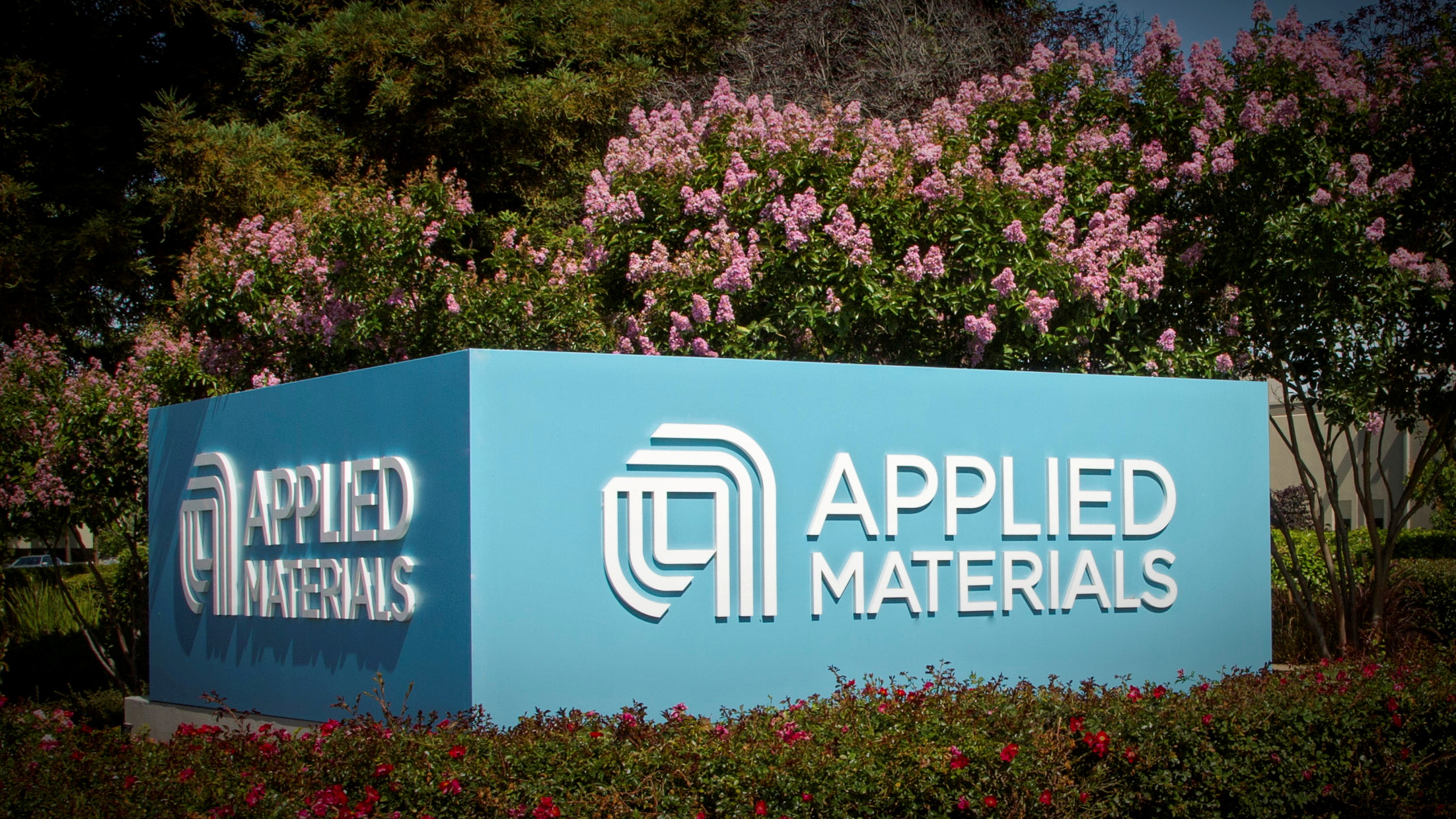 Applied Materials' new corporate signage photo in Santa Clara, California, U.S. is shown in this image released on August 22, 2016.  Courtesy Applied Materials/Handout via REUTERS