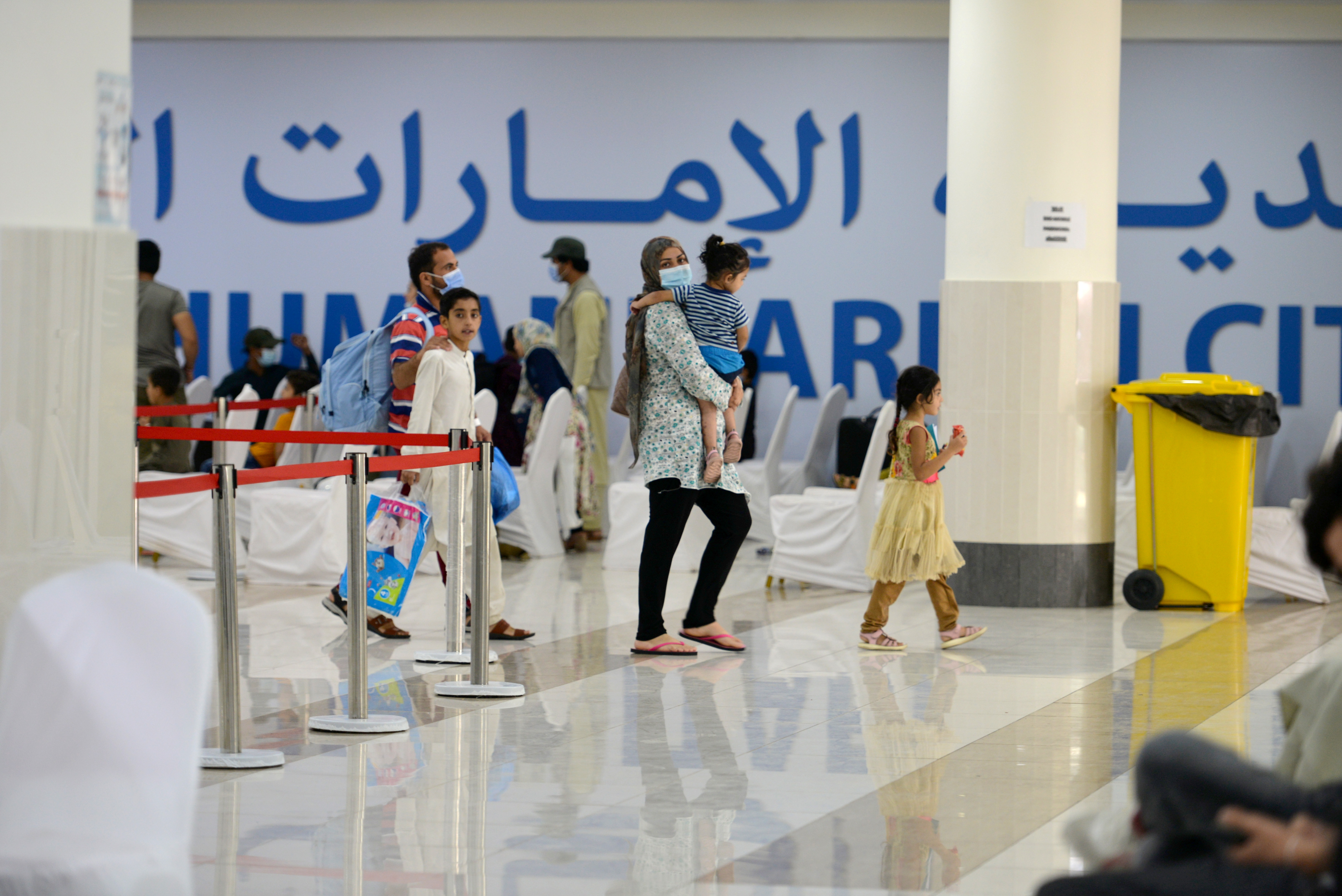Evacuees from Afghanistan arrive at Emirates Humanitarian City in Abu Dhabi, UAE, August 28, 2021. REUTERS/Vidhyaa Chandramohan/File Photo