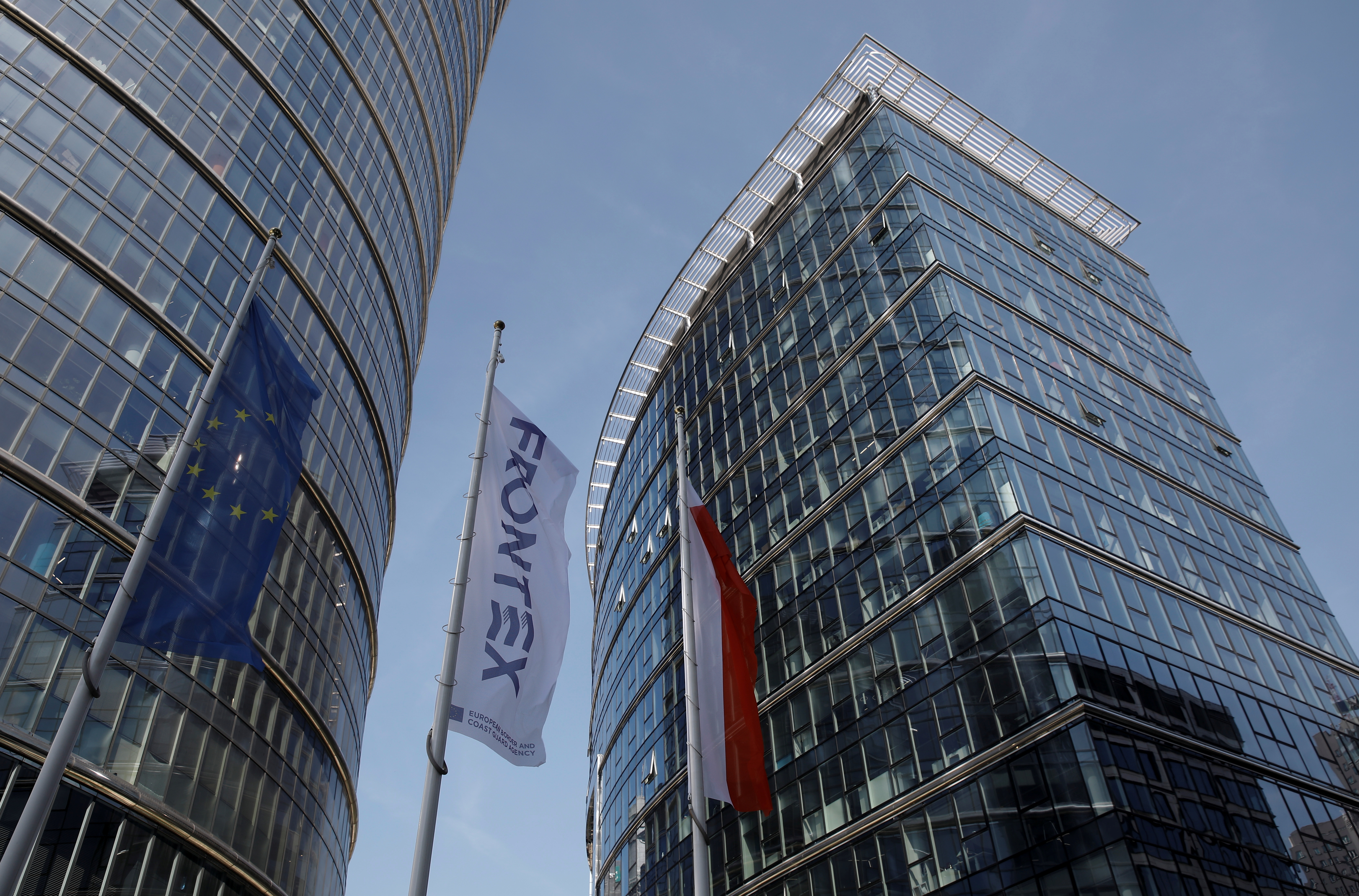 A view shows the headquarters of EU border agency Frontex in Warsaw, Poland September 8, 2021. REUTERS/Kacper Pempel