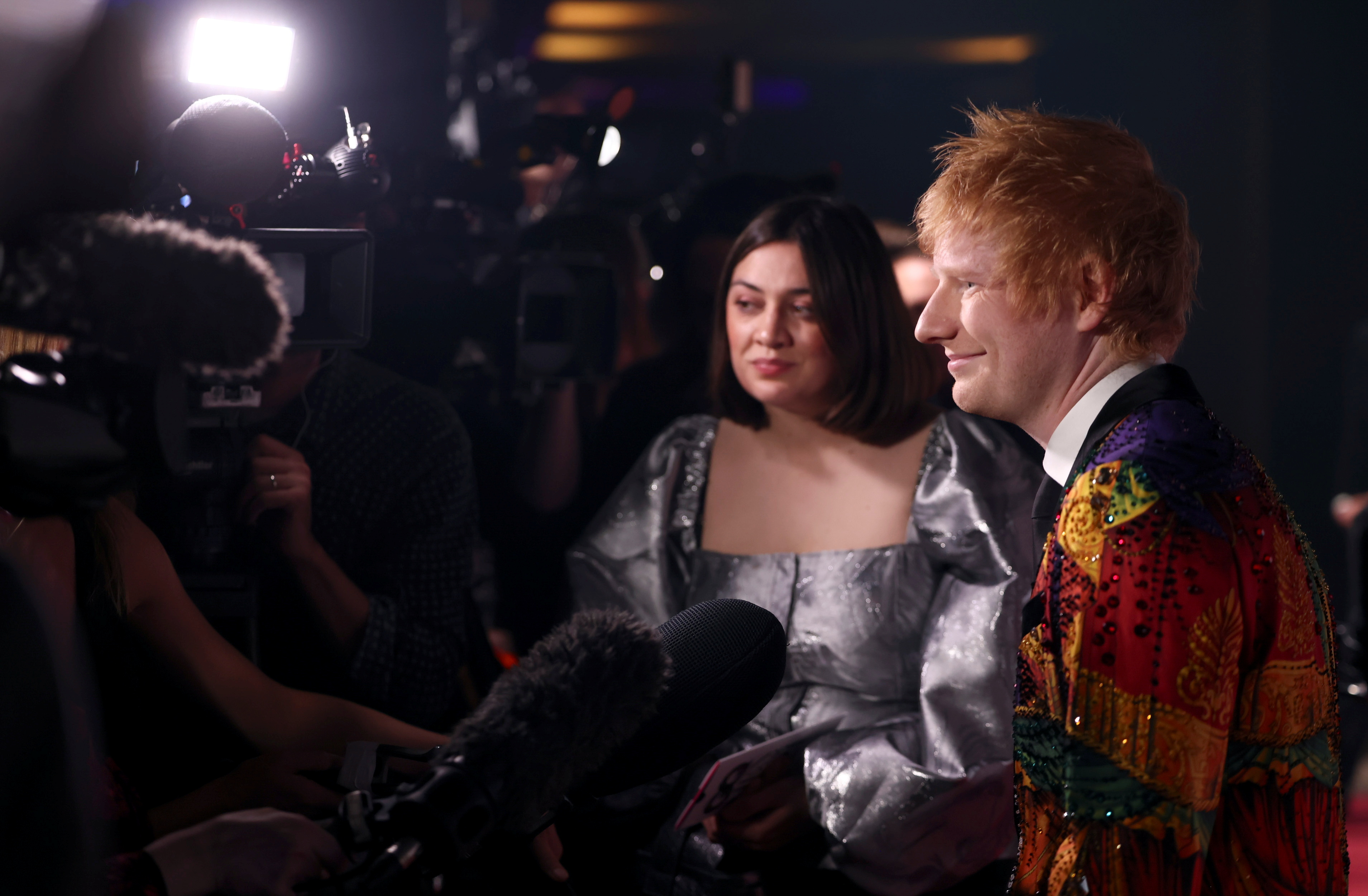 Ed Sheeran arrives to the GQ Men Of The Year Awards 2021 in London, Britain September 1, 2021. REUTERS/Henry Nicholls
