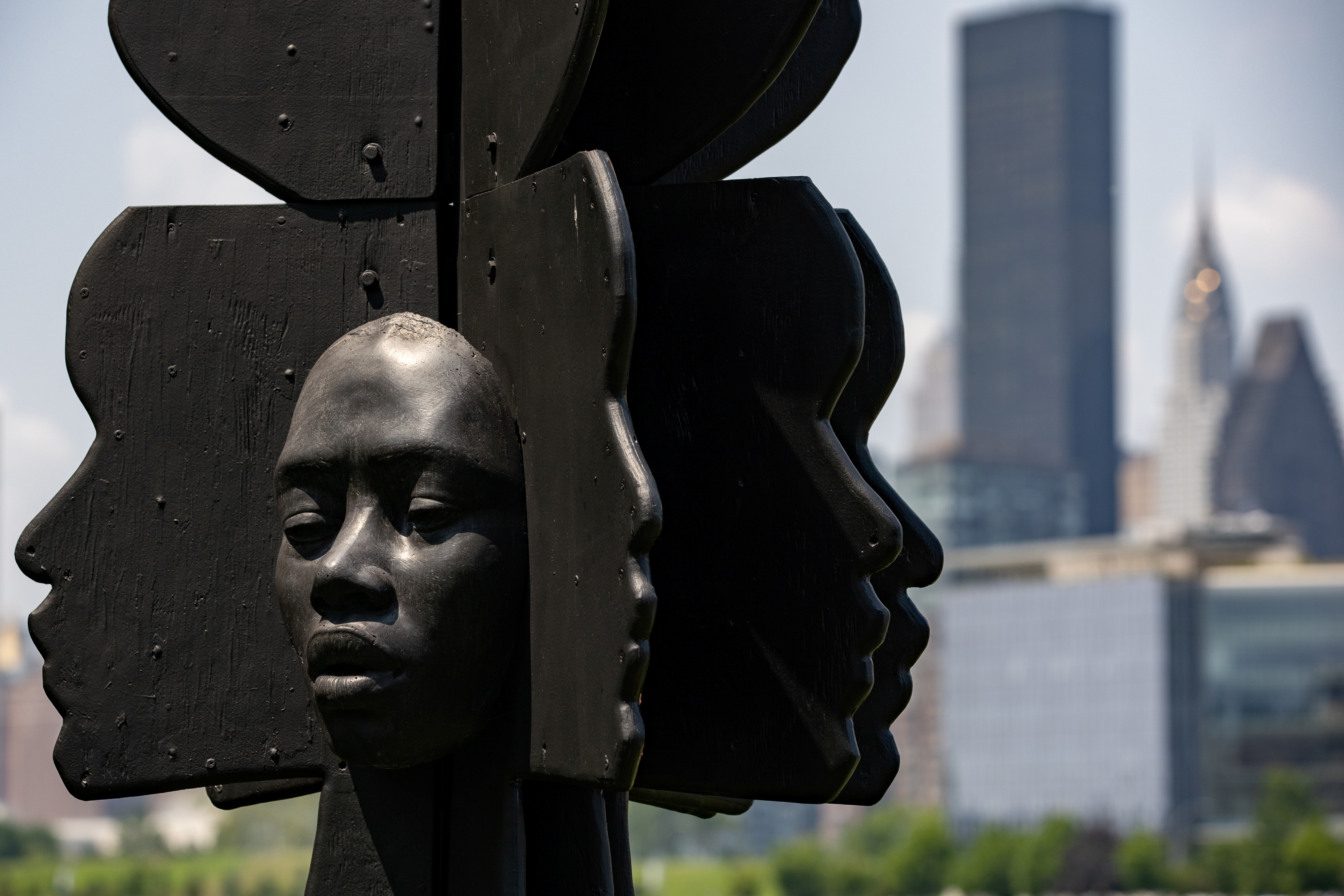 A sculpture by artist Tanda Francis called
