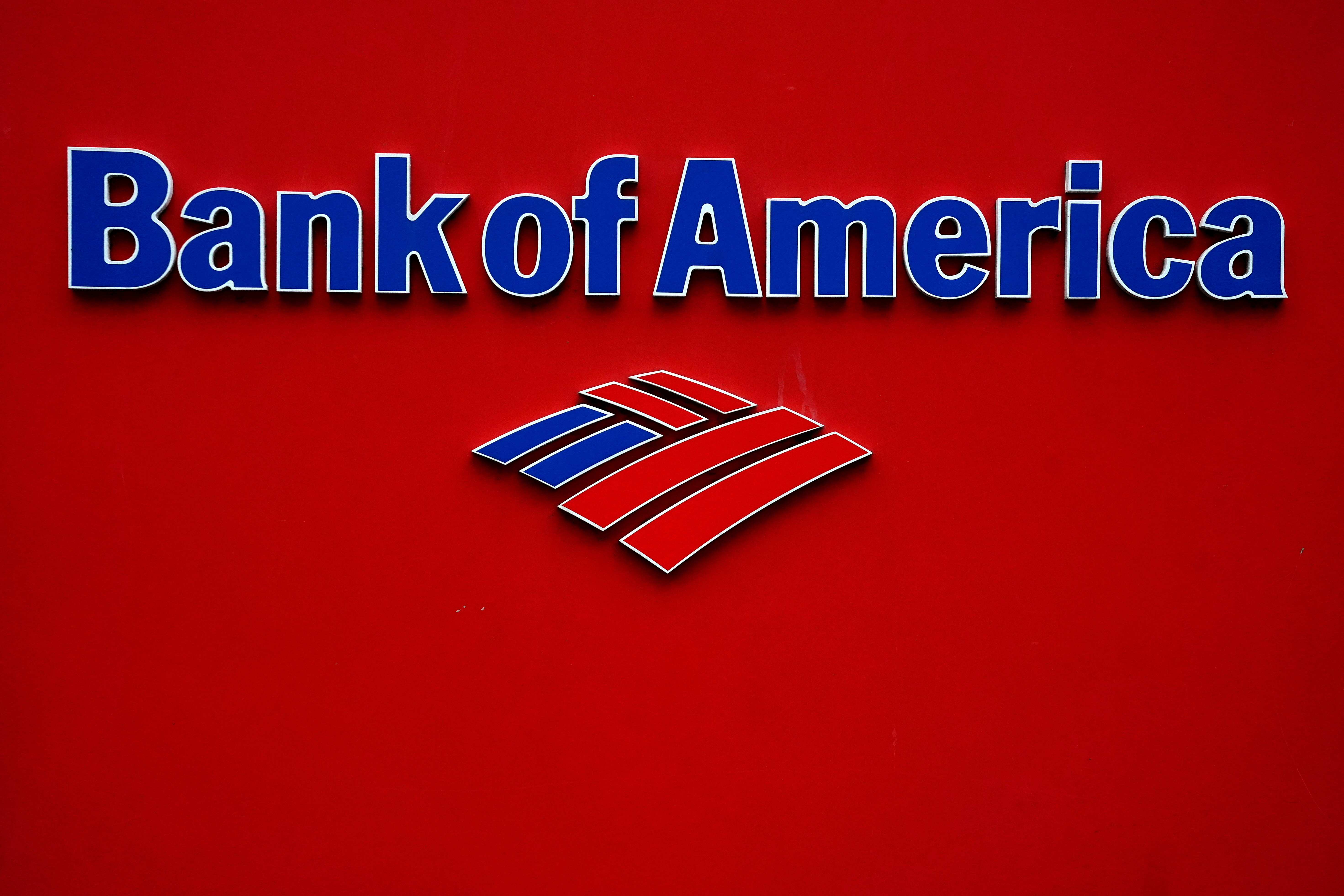 A Bank of America logo is pictured in the Manhattan borough of New York City, New York, U.S., January 30, 2019. REUTERS/Carlo Allegri//File Photo
