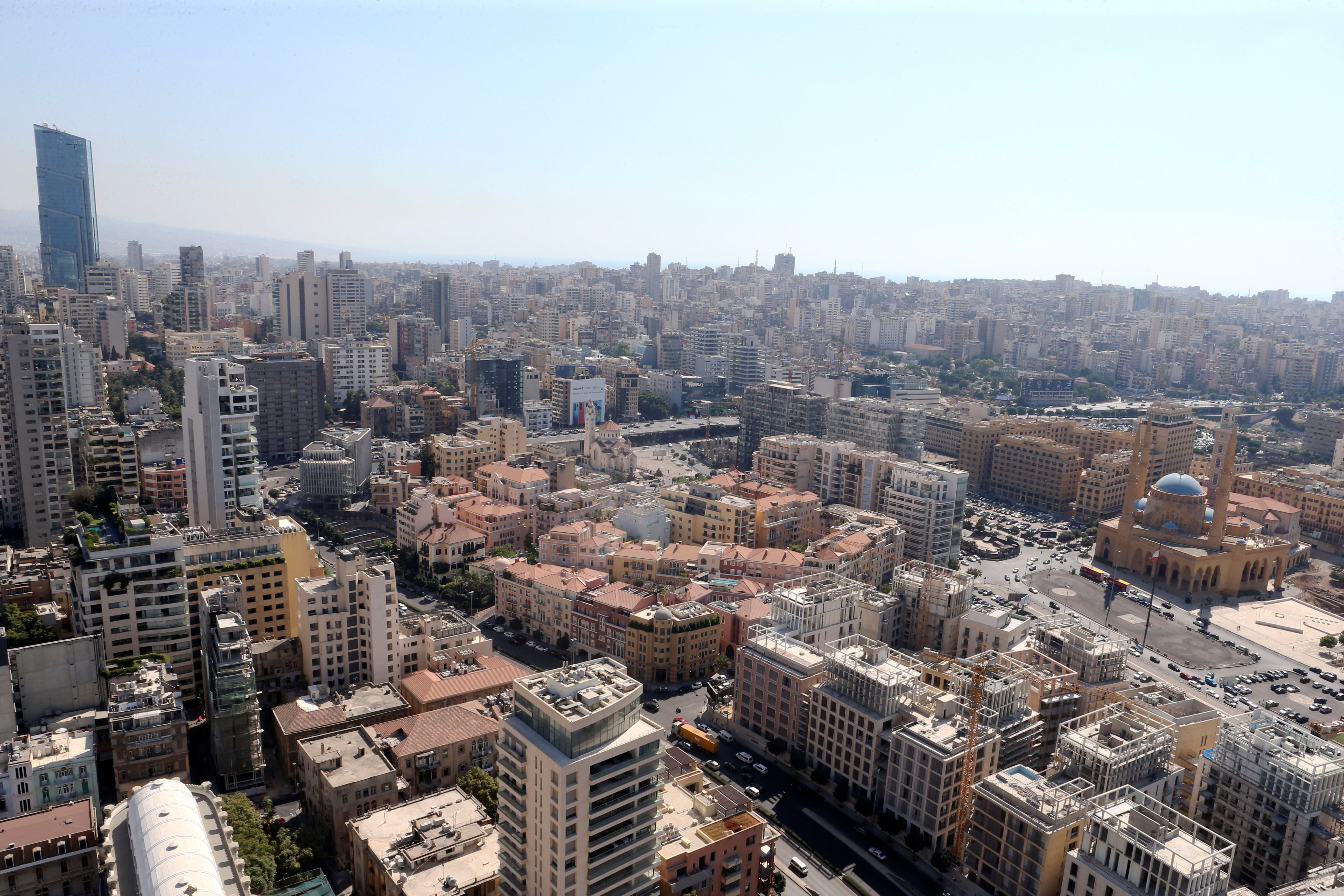 A general view of Beirut central district, Lebanon, August 22, 2019. Picture taken August 22, 2019. REUTERS/Mohamed Azakir