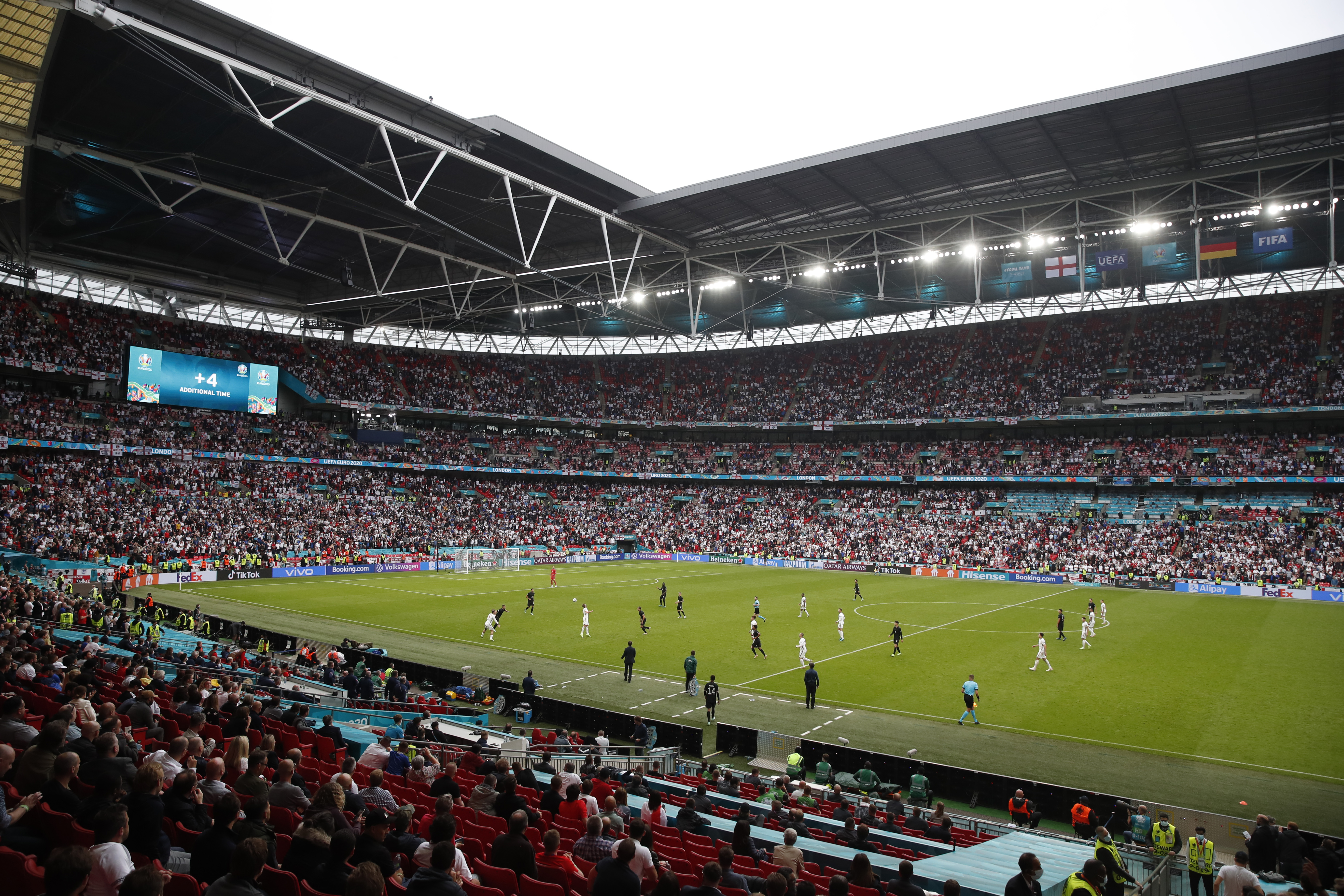 Soccer Football - Euro 2020 - Round of 16 - England v Germany - Wembley Stadium, London, Britain - June 29, 2021 General view of the action Pool via REUTERS/Matthew Childs