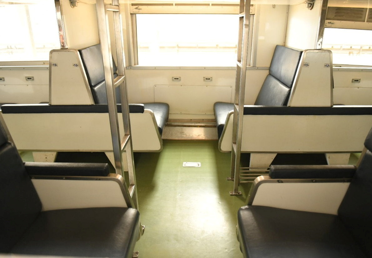 Train seats are seen as Thai government plan to convert 15 disused railway carriages into a 240-bed  coronavirus disease (COVID-19)  isolation ward for patients with less severe symptoms in Bangkok, Thailand July 27, 2021. BANGKOK METROPOLITAN ADMINISTRATION/Handout via REUTERS