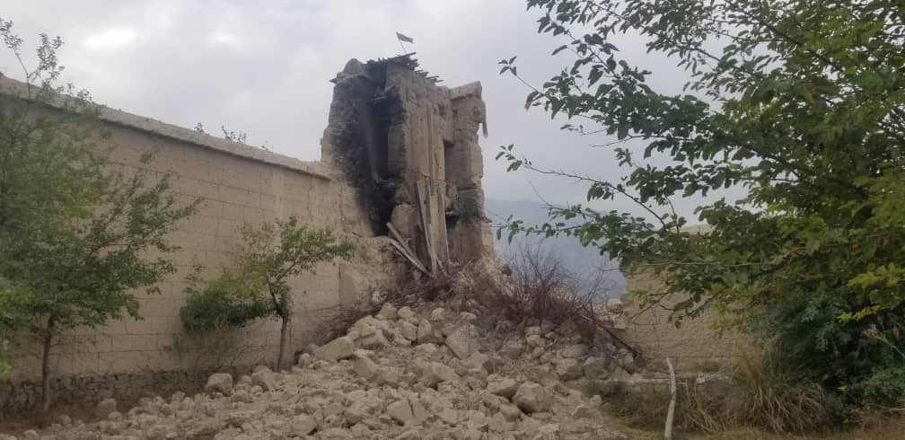 A view of ruins of destroyed ancestral home of Nangarhar provincial official Ajmal Omar in Kodi Khel, Nangarhar, Afghanistan, September 23, 2021, in this image obtained by REUTERS.