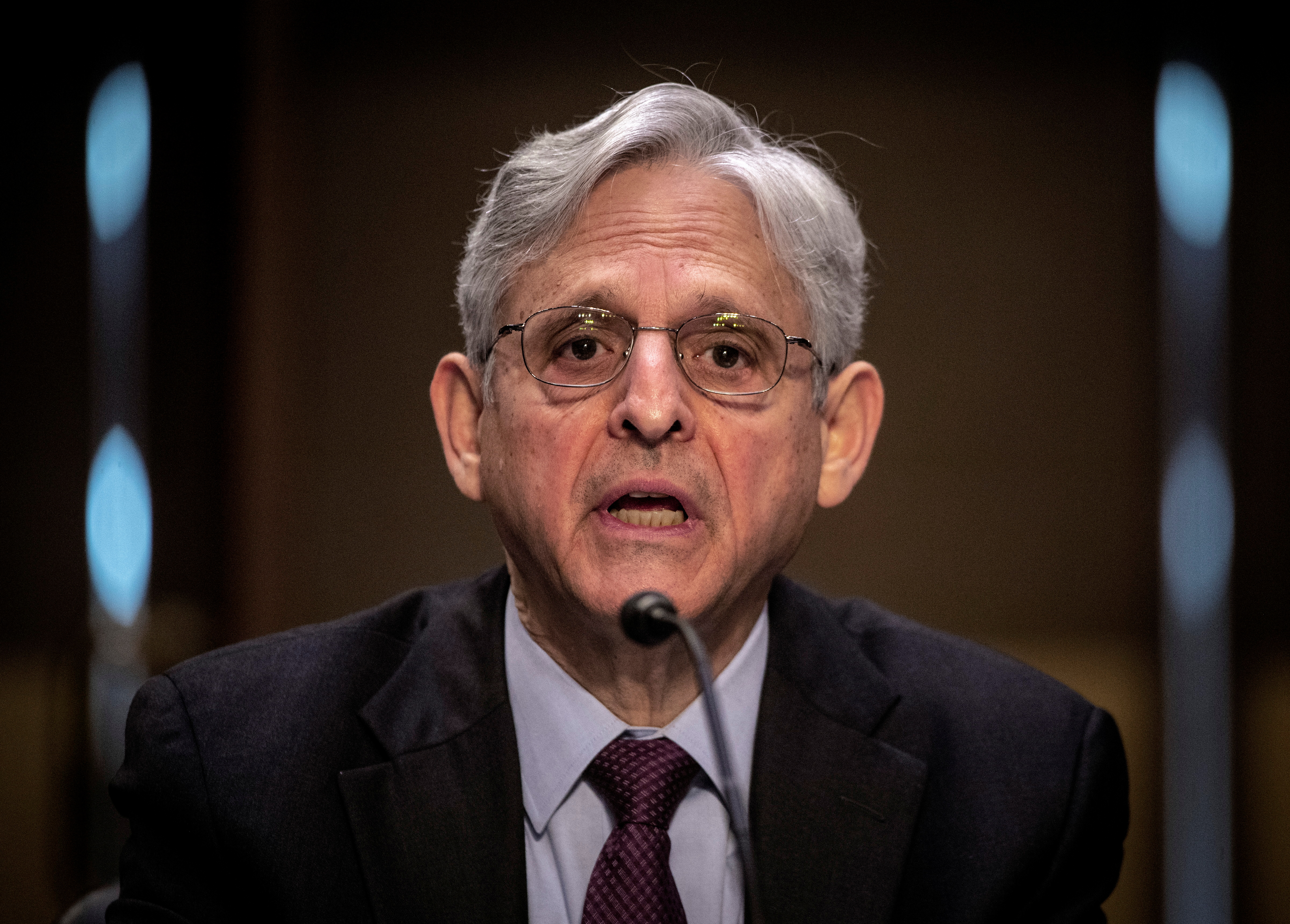 Attorney General Merrick Garland speaks during a hearing on