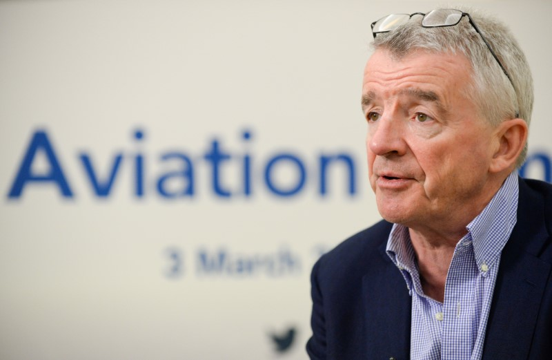 Ryanair Chief Executive Michael O'Leary attends the Europe Aviation Summit in Brussels, Belgium March 3, 2020. REUTERS/Johanna Geron