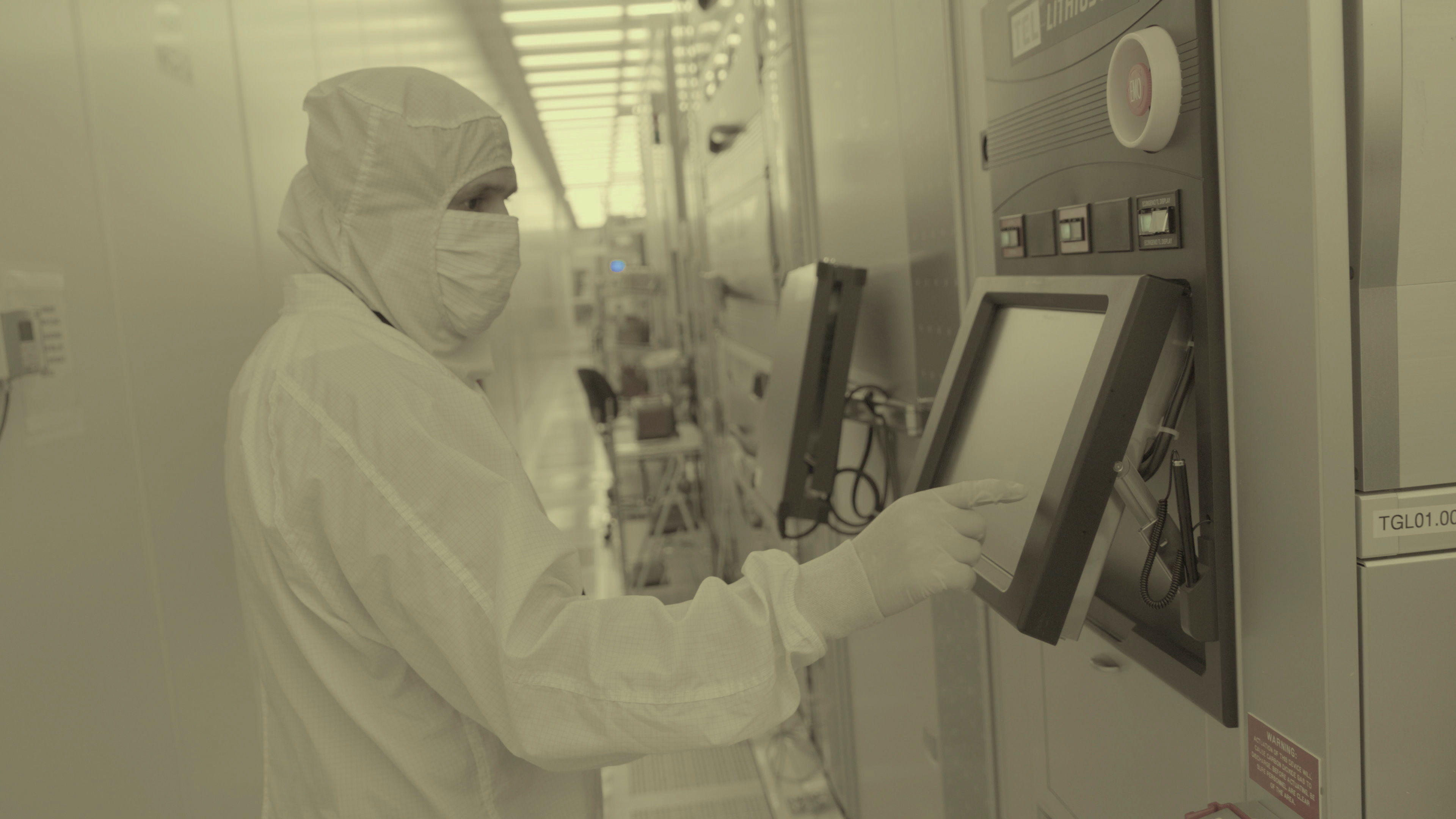Workers are seen inside IBM's semiconductor research center in Albany, New York in an undated handout photo provided on May 6, 2021.  Courtesy of IBM Research/Handout via REUTERS
