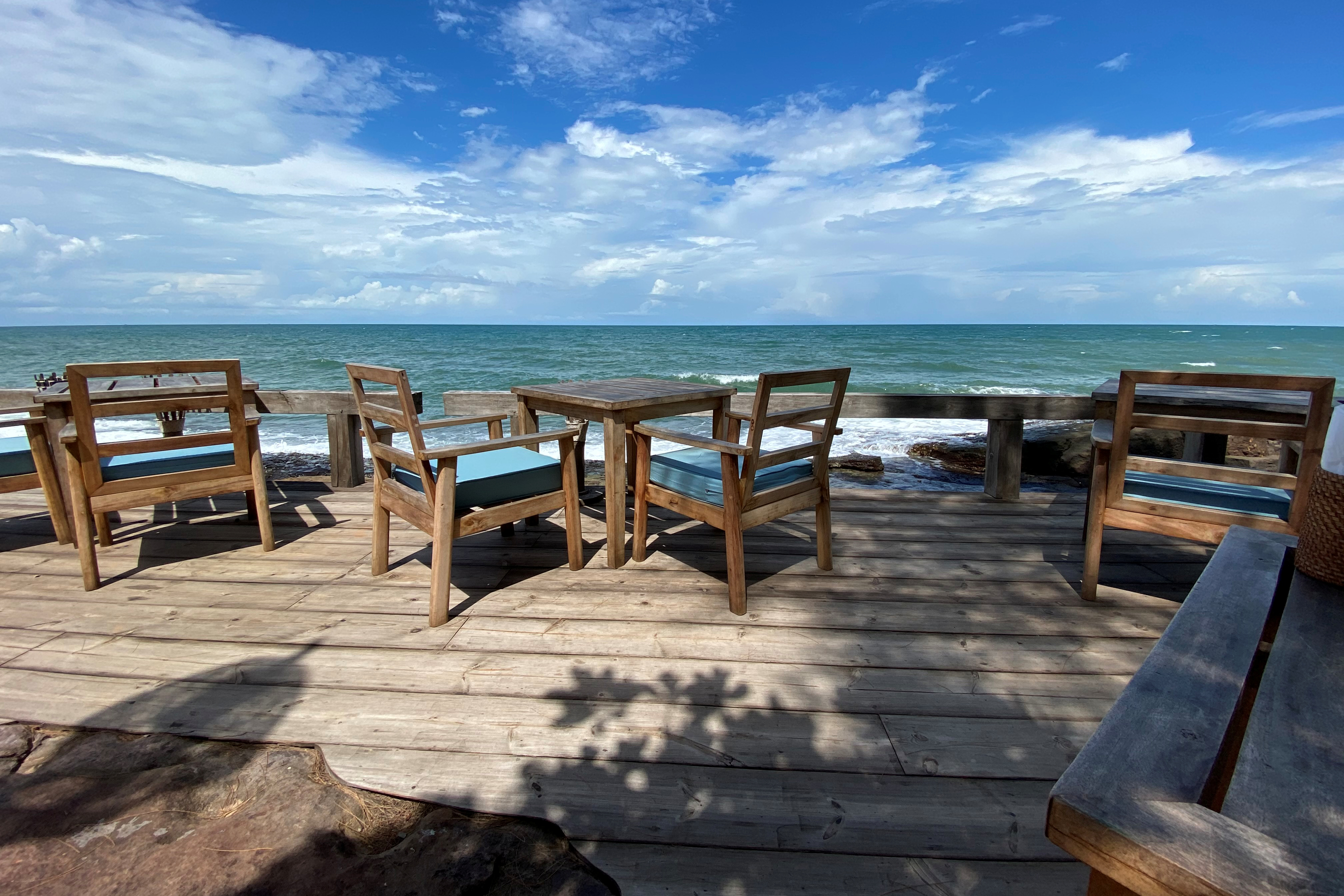 Views from a beachside restaurant are seen at the Mango Bay resort in Phu Quoc island, Vietnam, June 13, 2020. REUTERS/James Pearson
