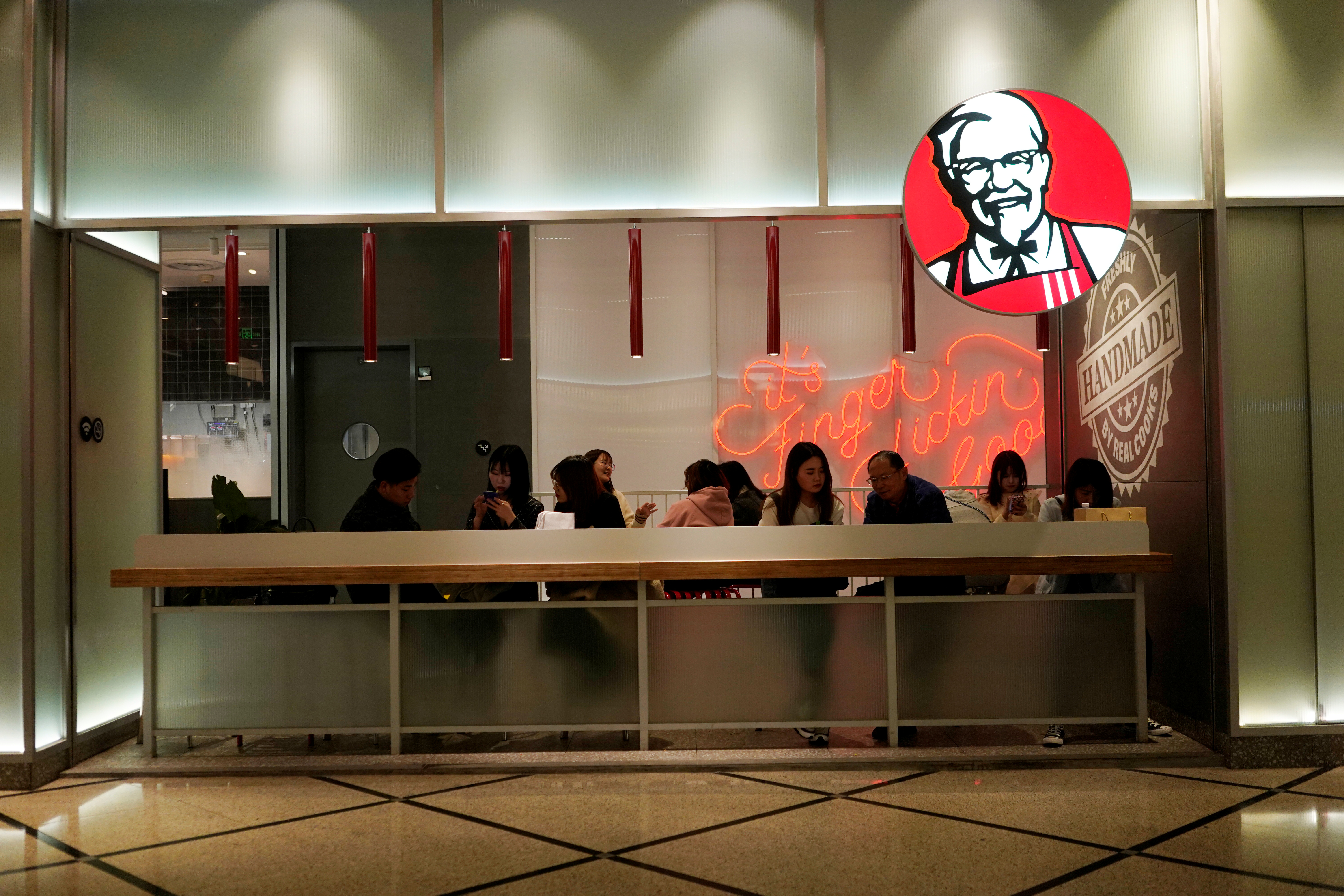A KFC restaurant is seen in Shanghai, China March 12, 2019. REUTERS/Aly Song