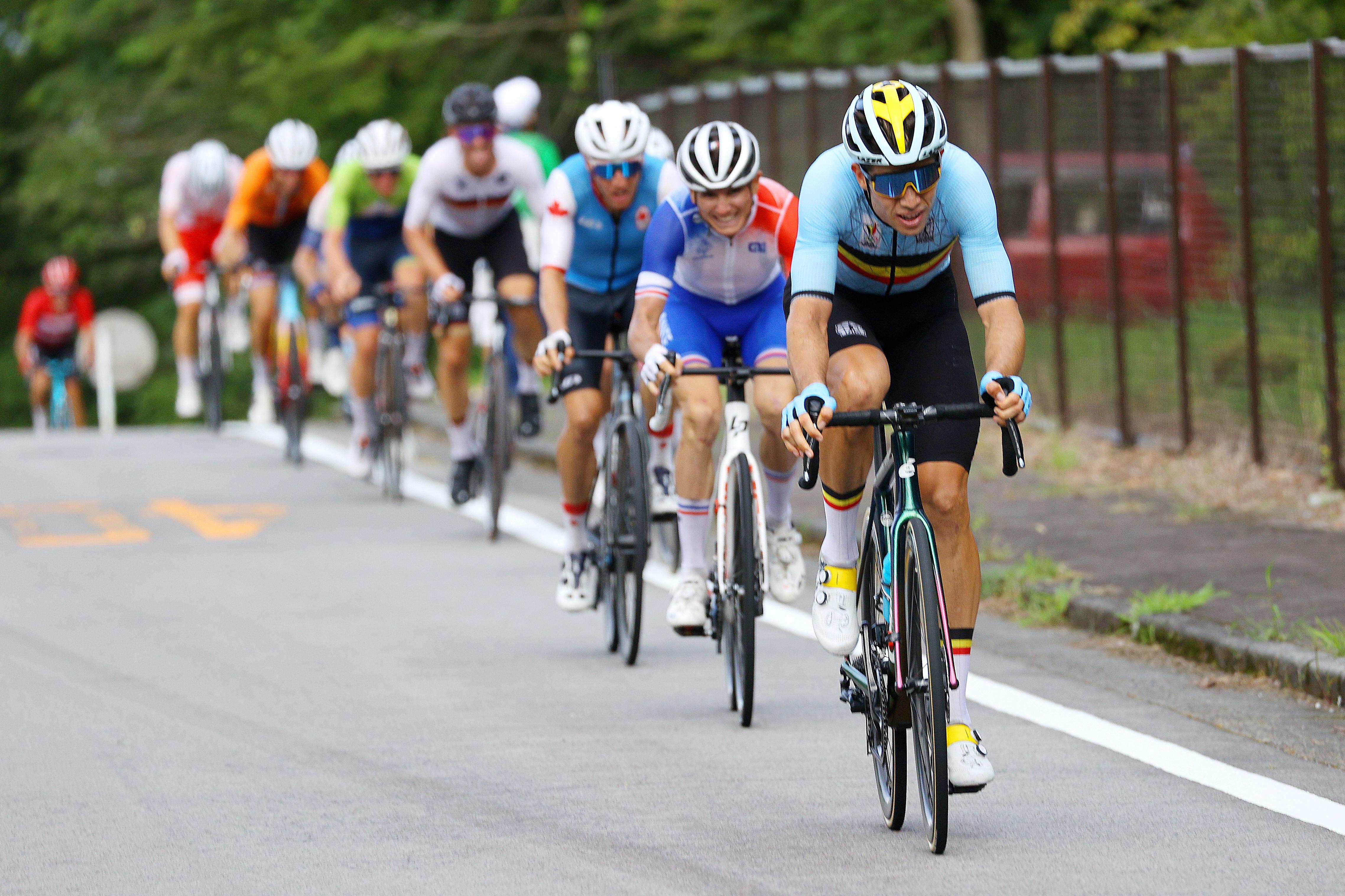 Tokyo 2020 Olympics - Cycling - Road - Men's Road Race - Final - Tokyo to Fuji International Speedway, Japan - July 24, 2021. Wout van Aert of Belgium in action during the Men's Road Race.  Pool via Reuters/Tim de Waele